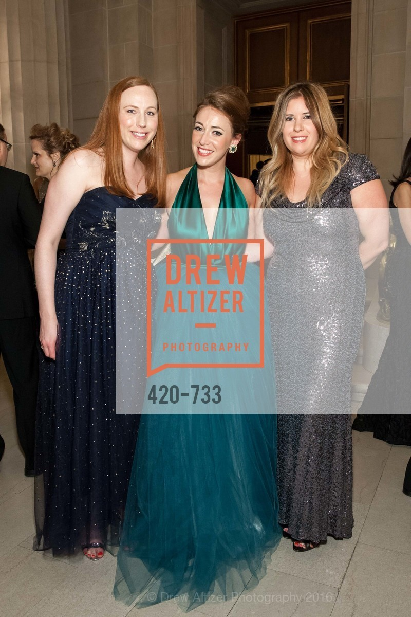 Gretchen Robinson, Schuyler Hudak, Ashley de Smeth, San Francisco Ballet 2016 Opening Night Gala, San Francisco City Hall. 1 Dr Carlton B Goodlett Pl, January 21st, 2016,Drew Altizer, Drew Altizer Photography, full-service agency, private events, San Francisco photographer, photographer california
