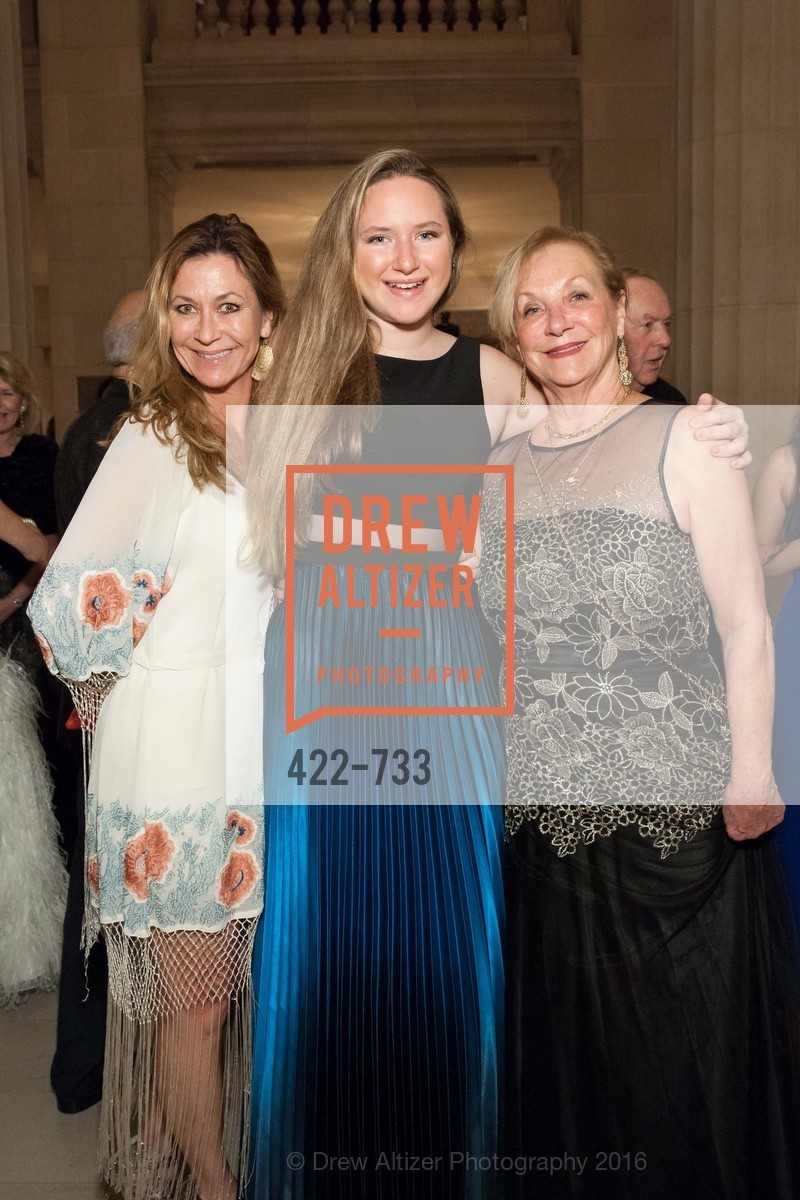 Cara Douglas, Bridget Douglas, Elizabeth Rush, San Francisco Ballet 2016 Opening Night Gala, San Francisco City Hall. 1 Dr Carlton B Goodlett Pl, January 21st, 2016,Drew Altizer, Drew Altizer Photography, full-service agency, private events, San Francisco photographer, photographer california