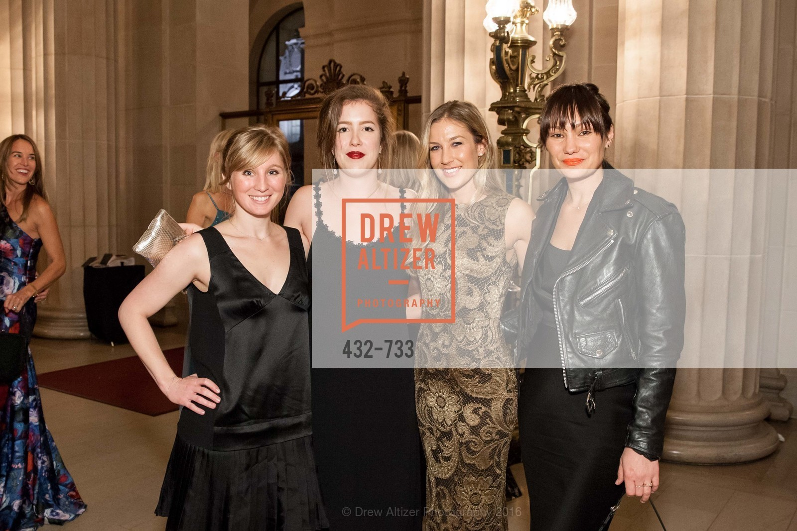 Jennifer Sutton, Stephanie Willemsen, Emily Slade, San Francisco Ballet 2016 Opening Night Gala, San Francisco City Hall. 1 Dr Carlton B Goodlett Pl, January 21st, 2016,Drew Altizer, Drew Altizer Photography, full-service agency, private events, San Francisco photographer, photographer california