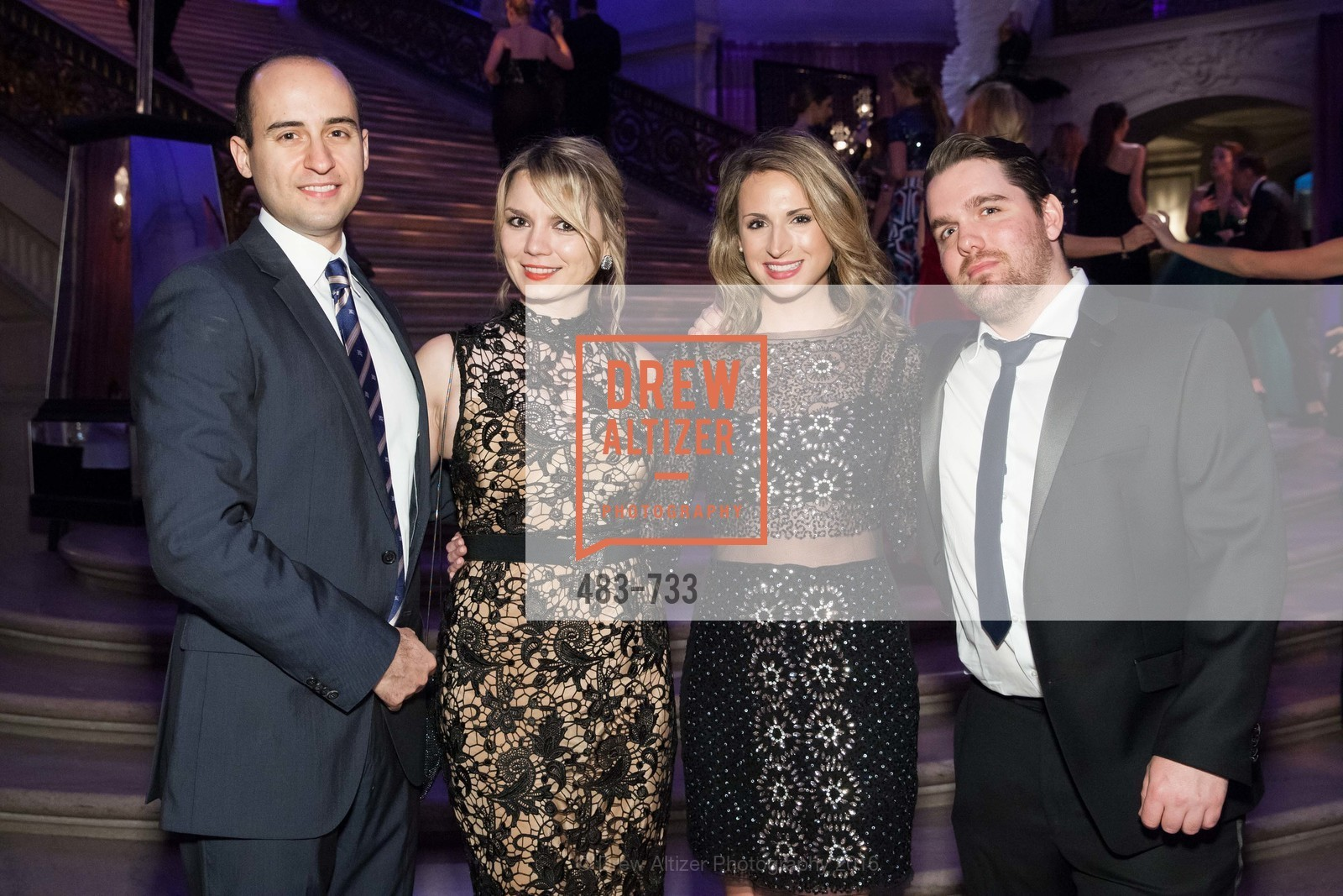Amir Rouzrojh, Marina Orlovic, Lauren Fendel, Josselin Cournou, San Francisco Ballet 2016 Opening Night Gala, San Francisco City Hall. 1 Dr Carlton B Goodlett Pl, January 21st, 2016,Drew Altizer, Drew Altizer Photography, full-service agency, private events, San Francisco photographer, photographer california