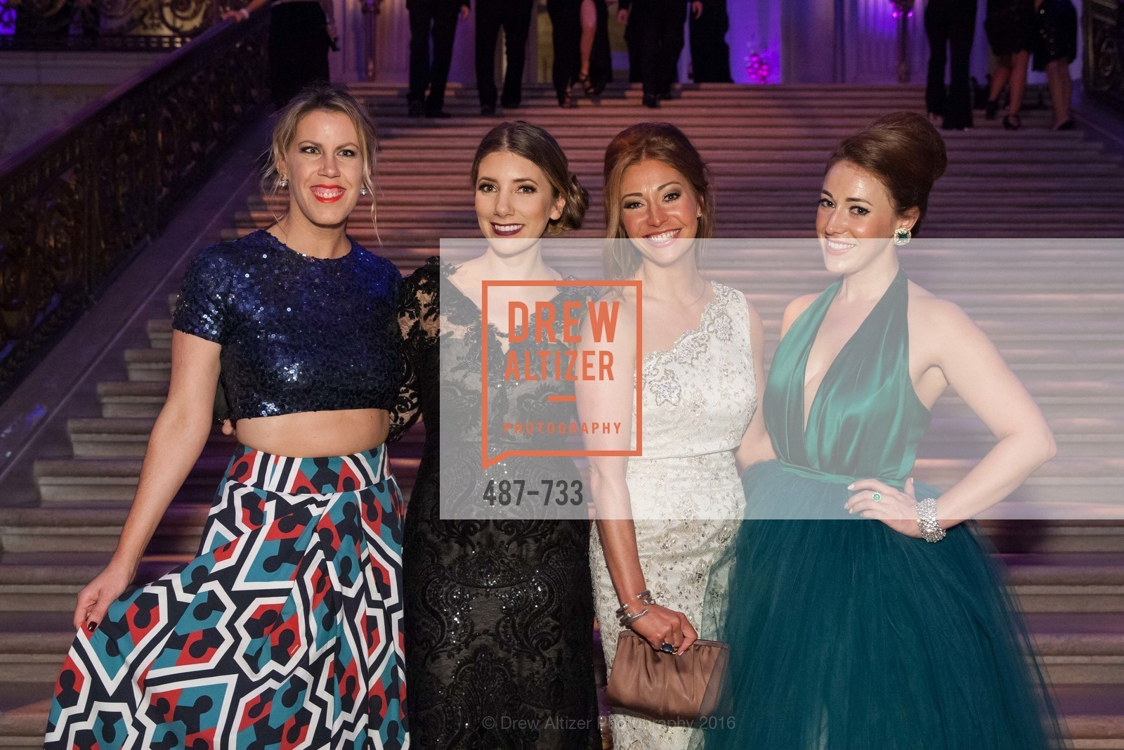 Lauren Groff, Brianna Haag, Whitney Hudak, Schuyler Hudak, San Francisco Ballet 2016 Opening Night Gala, San Francisco City Hall. 1 Dr Carlton B Goodlett Pl, January 21st, 2016,Drew Altizer, Drew Altizer Photography, full-service agency, private events, San Francisco photographer, photographer california