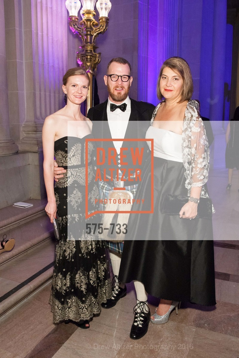 Greer Goings, Benjamin Thompson, Tina Myers, San Francisco Ballet 2016 Opening Night Gala, San Francisco City Hall. 1 Dr Carlton B Goodlett Pl, January 21st, 2016,Drew Altizer, Drew Altizer Photography, full-service agency, private events, San Francisco photographer, photographer california