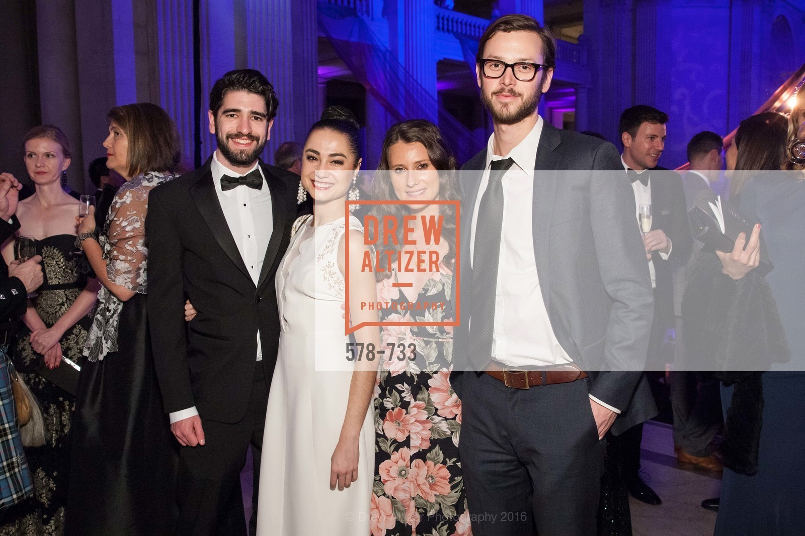 Joshua Pratman, Matilde Sloustey, Renee Schomp, Zack Sumner, San Francisco Ballet 2016 Opening Night Gala, San Francisco City Hall. 1 Dr Carlton B Goodlett Pl, January 21st, 2016,Drew Altizer, Drew Altizer Photography, full-service agency, private events, San Francisco photographer, photographer california