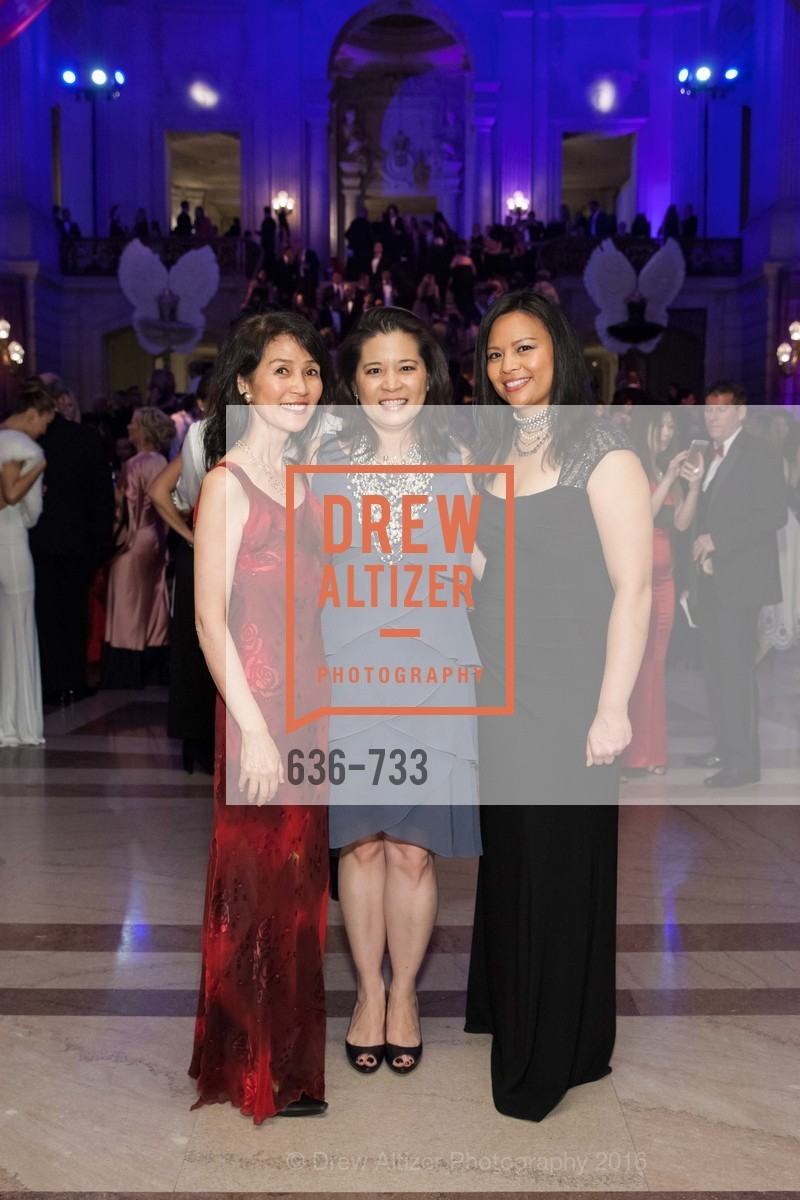 Reiko Muranaga, Esther Del Rosario, Christina Arguelles, San Francisco Ballet 2016 Opening Night Gala, San Francisco City Hall. 1 Dr Carlton B Goodlett Pl, January 21st, 2016,Drew Altizer, Drew Altizer Photography, full-service agency, private events, San Francisco photographer, photographer california