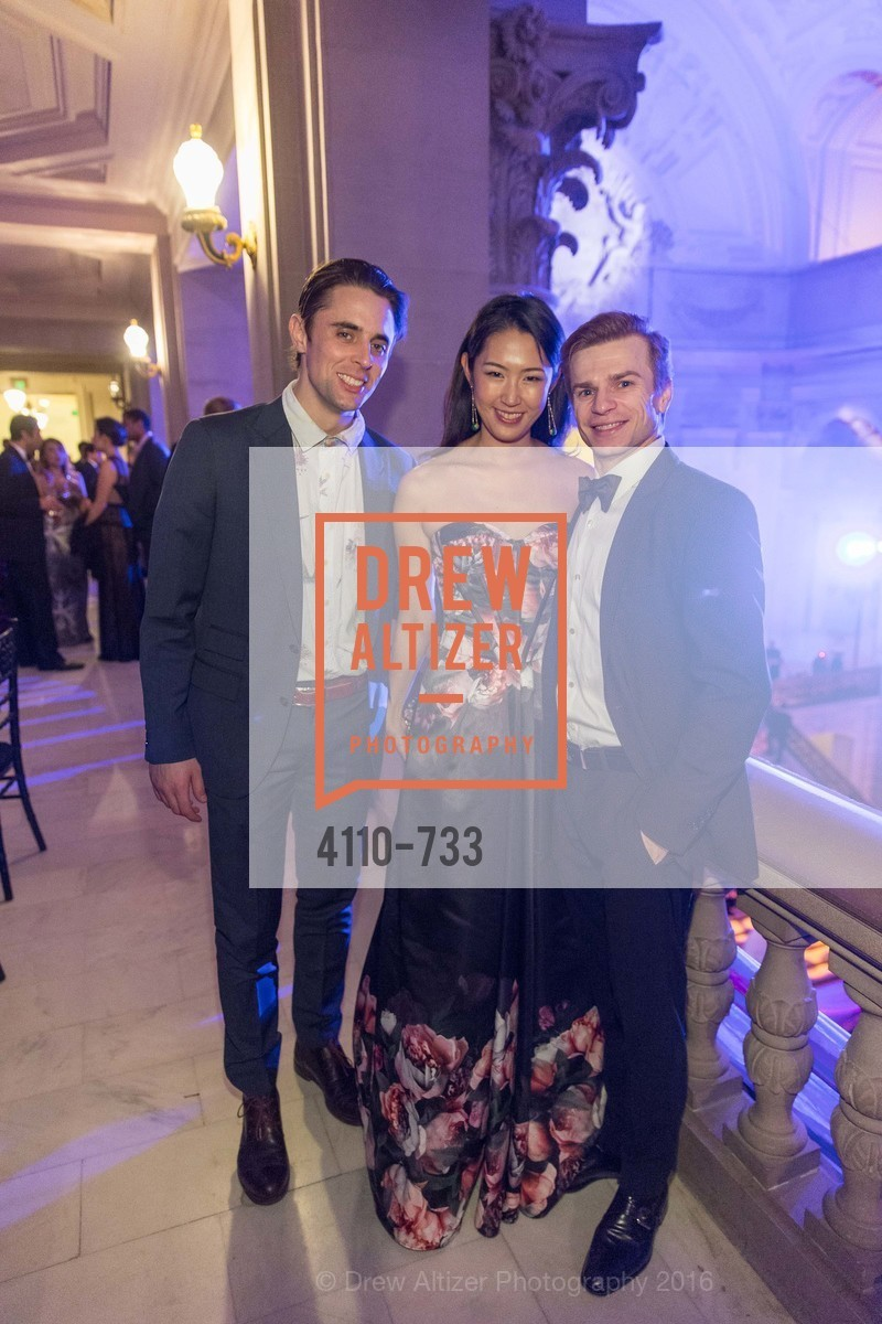 Luke Ingham, Miho Nedvigin, Gennadi Nedvigin, San Francisco Ballet 2016 Opening Night Gala, San Francisco City Hall. 1 Dr Carlton B Goodlett Pl, January 21st, 2016,Drew Altizer, Drew Altizer Photography, full-service agency, private events, San Francisco photographer, photographer california