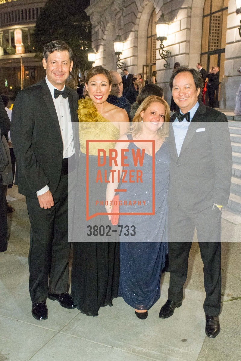 Mark Thoma, Joy Boatwright, Donna Burke, August Eng, San Francisco Ballet 2016 Opening Night Gala, San Francisco City Hall. 1 Dr Carlton B Goodlett Pl, January 21st, 2016,Drew Altizer, Drew Altizer Photography, full-service agency, private events, San Francisco photographer, photographer california