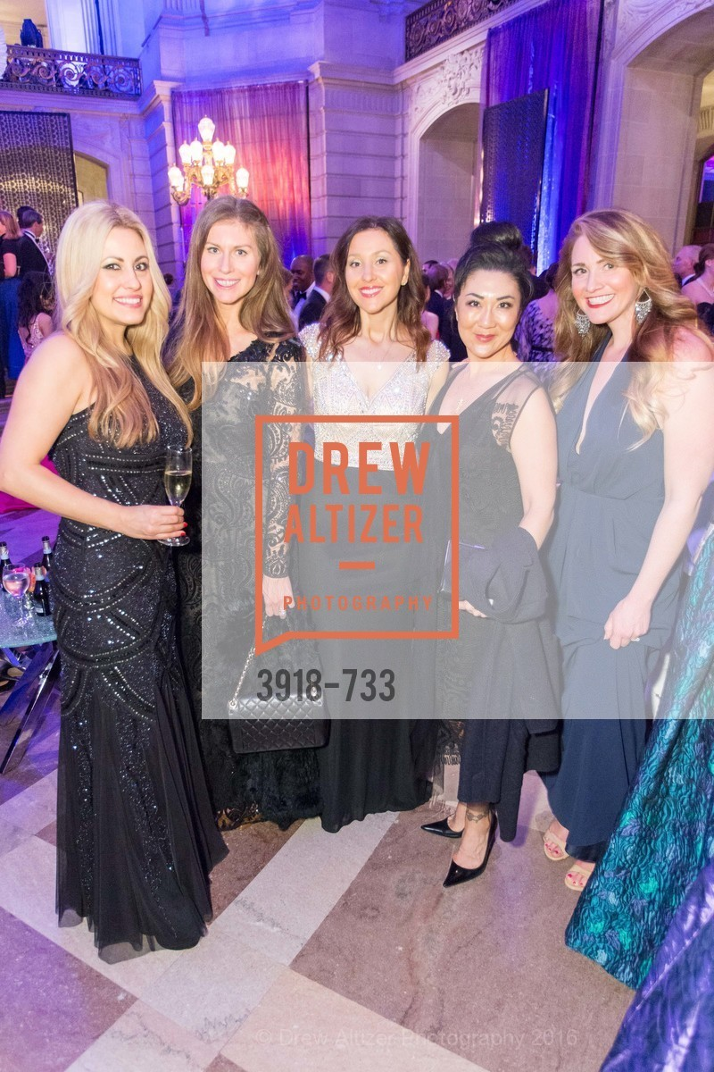 Kimber Frankel, Katelin Mezzetta, Erica Stakutis, Rachel Mcgovern, San Francisco Ballet 2016 Opening Night Gala, San Francisco City Hall. 1 Dr Carlton B Goodlett Pl, January 21st, 2016,Drew Altizer, Drew Altizer Photography, full-service agency, private events, San Francisco photographer, photographer california