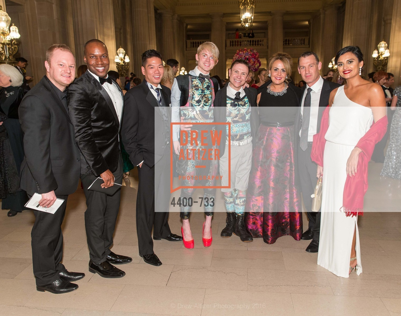 Chris Dillard, Jayson Johnson, Edton Mock, Christian Squires, Robert Dekkers, Ashley Heller, Wade Burgess, Rupal Patel, San Francisco Ballet 2016 Opening Night Gala, San Francisco City Hall. 1 Dr Carlton B Goodlett Pl, January 21st, 2016,Drew Altizer, Drew Altizer Photography, full-service event agency, private events, San Francisco photographer, photographer California