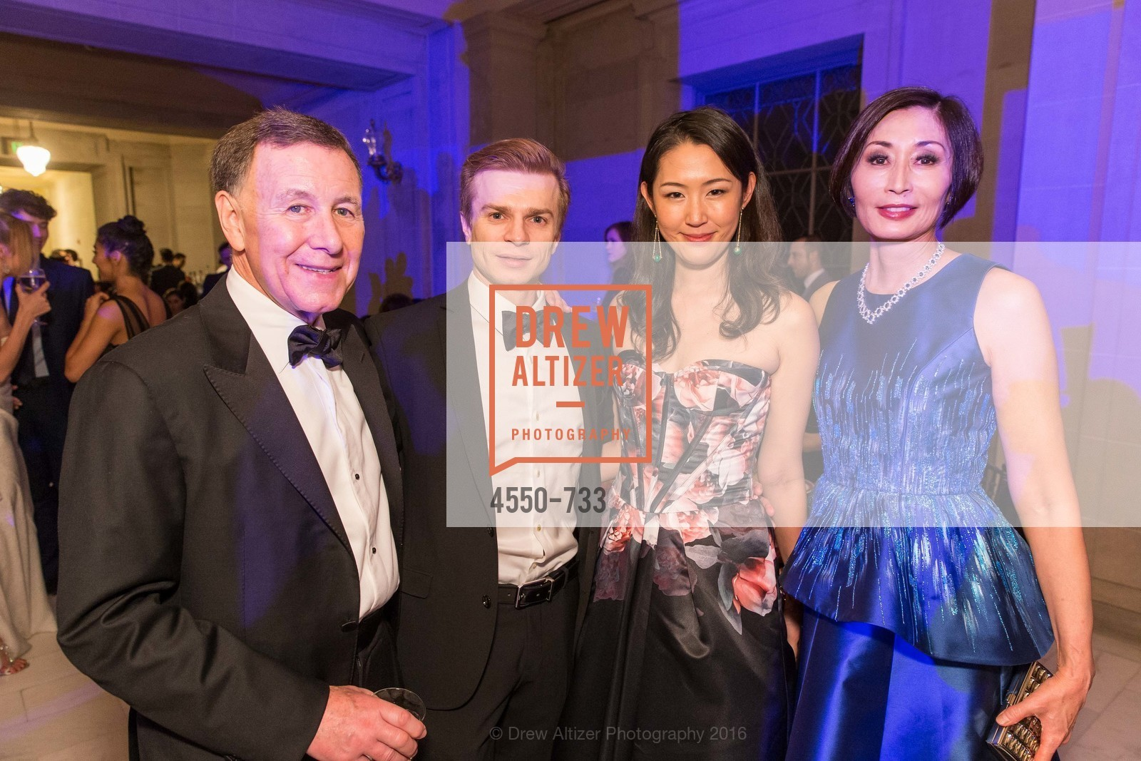 Carl Pascarella, Gennadi Nedvigin, Miho Nedvigin, Yurie Pascarella, San Francisco Ballet 2016 Opening Night Gala, San Francisco City Hall. 1 Dr Carlton B Goodlett Pl, January 21st, 2016,Drew Altizer, Drew Altizer Photography, full-service agency, private events, San Francisco photographer, photographer california