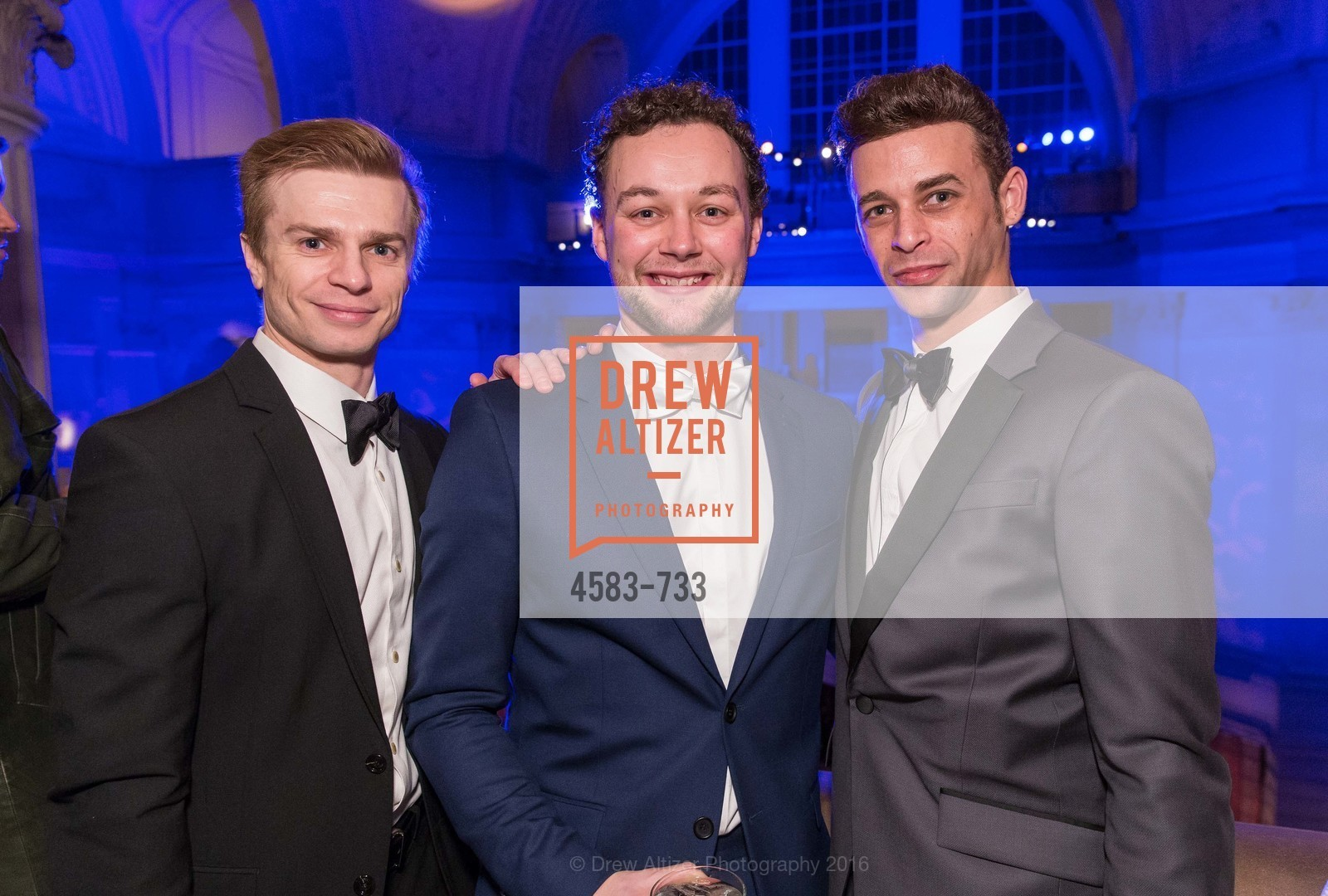 Gennadi Nedvigin, Liam Scarlett, Taras Domitro, San Francisco Ballet 2016 Opening Night Gala, San Francisco City Hall. 1 Dr Carlton B Goodlett Pl, January 21st, 2016,Drew Altizer, Drew Altizer Photography, full-service agency, private events, San Francisco photographer, photographer california