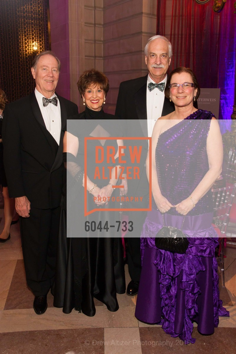Charlie Thornton, Suzanne Thornton, Mark Koenig, Carolyn Koenig, San Francisco Ballet 2016 Opening Night Gala, San Francisco City Hall. 1 Dr Carlton B Goodlett Pl, January 21st, 2016,Drew Altizer, Drew Altizer Photography, full-service agency, private events, San Francisco photographer, photographer california