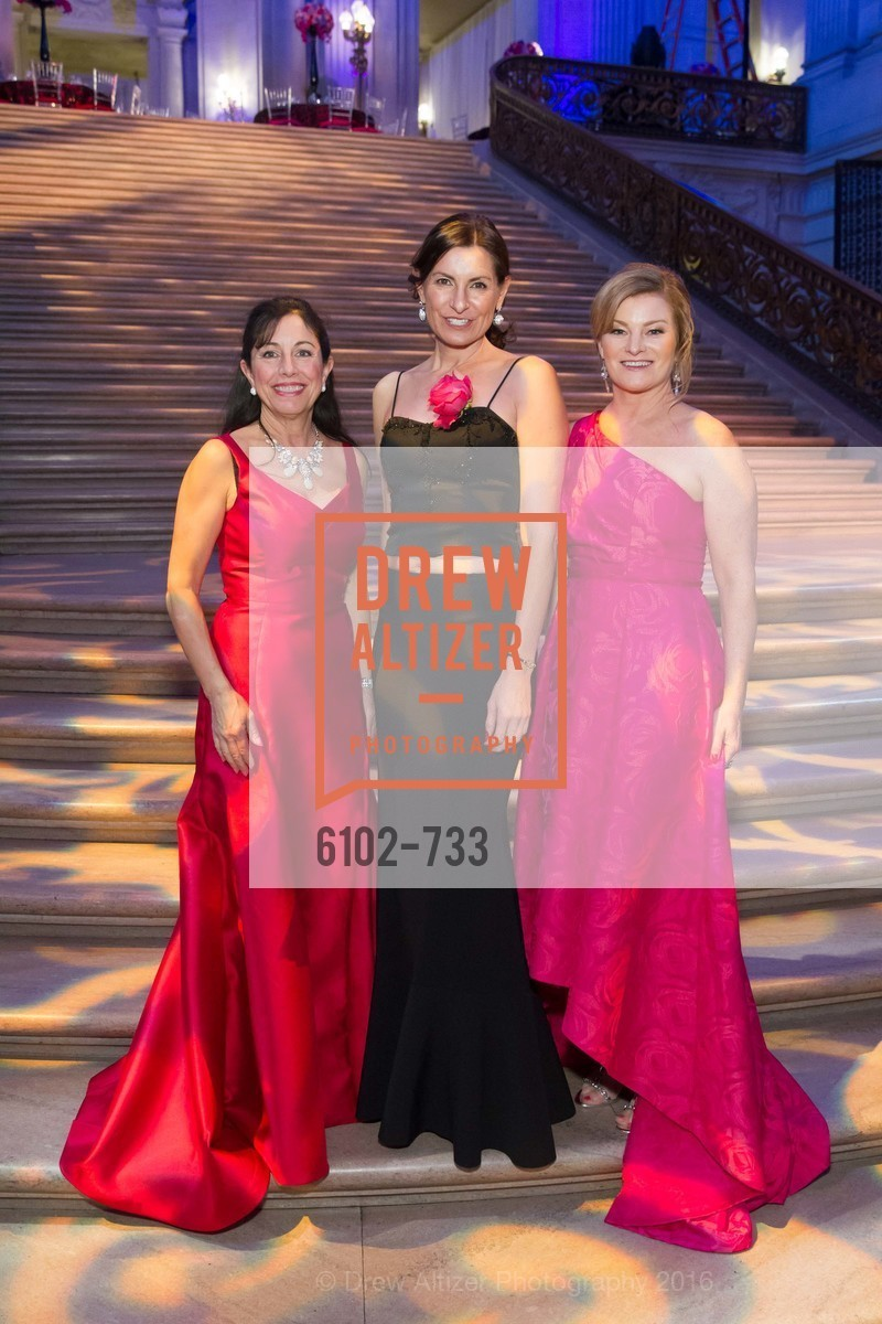 Donna Bachle, Rebecca Cooper, Rene Rodman, San Francisco Ballet 2016 Opening Night Gala, San Francisco City Hall. 1 Dr Carlton B Goodlett Pl, January 21st, 2016,Drew Altizer, Drew Altizer Photography, full-service agency, private events, San Francisco photographer, photographer california