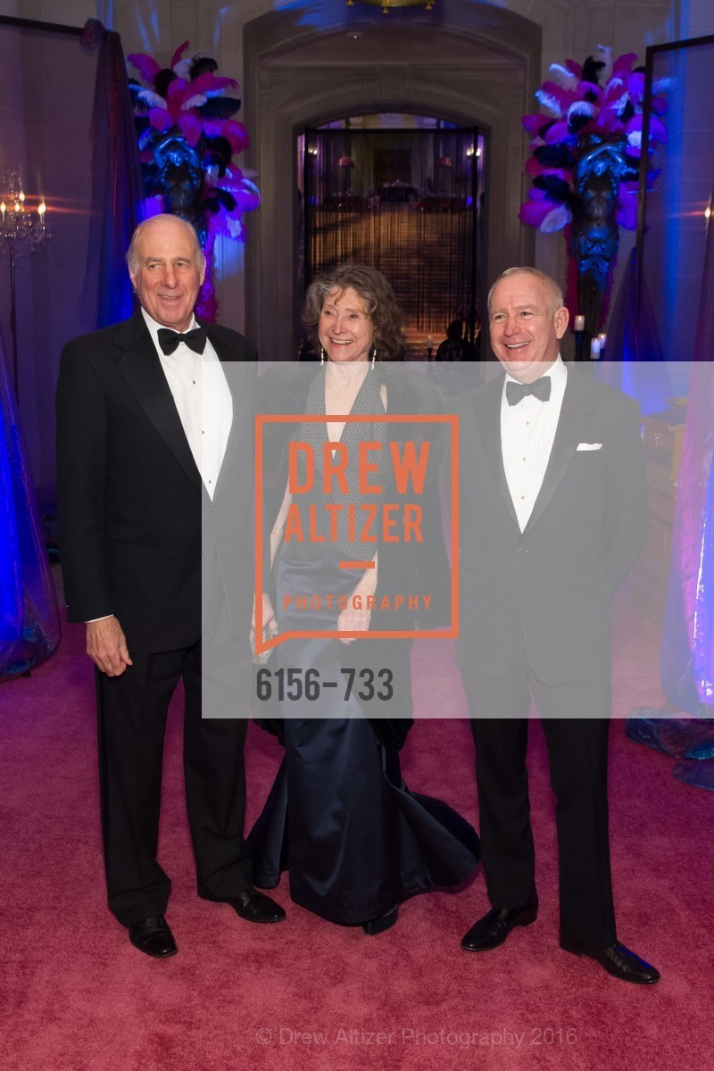 John Osterweis, Barbara Ravizza, Glenn McCoy, San Francisco Ballet 2016 Opening Night Gala, San Francisco City Hall. 1 Dr Carlton B Goodlett Pl, January 21st, 2016,Drew Altizer, Drew Altizer Photography, full-service agency, private events, San Francisco photographer, photographer california