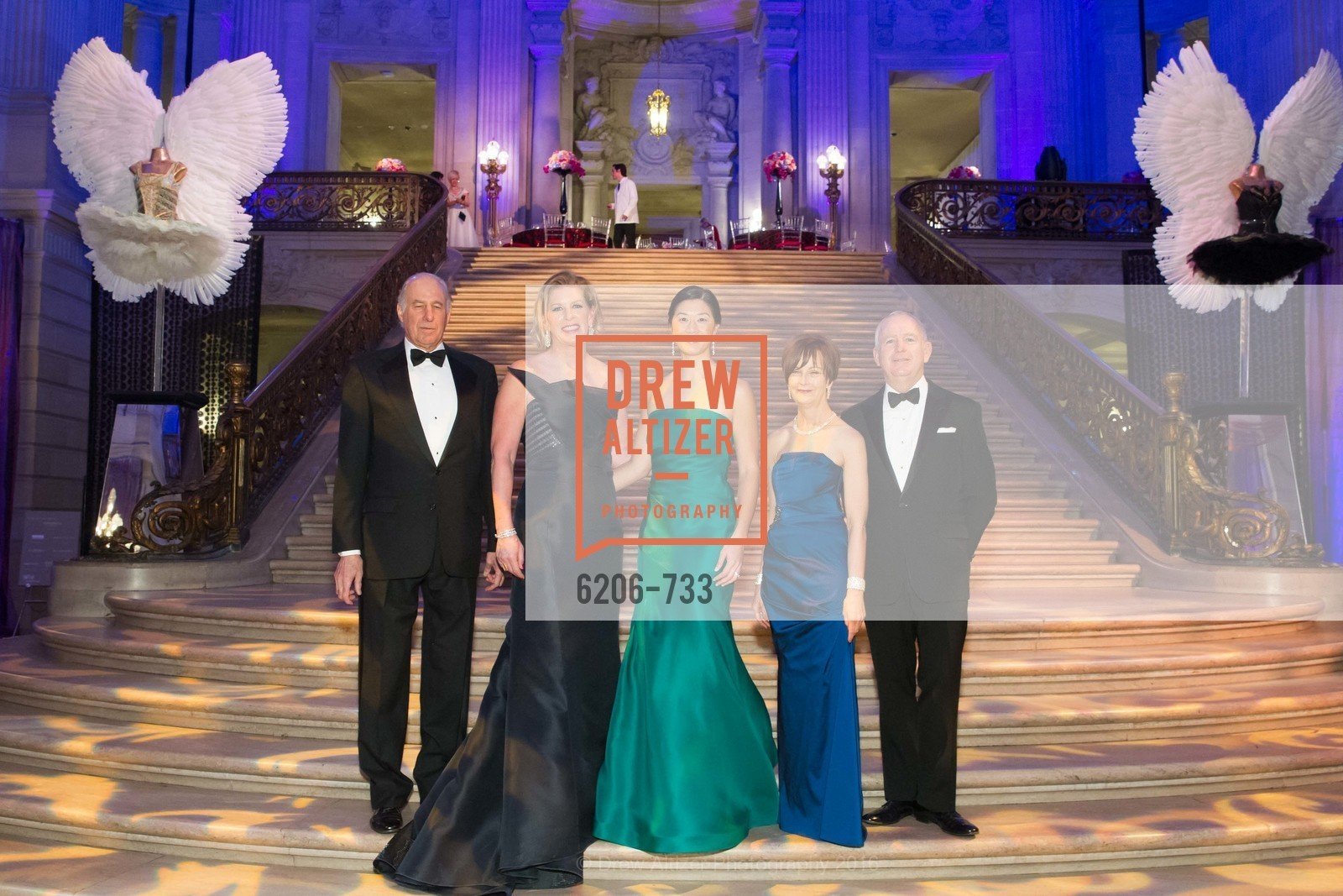 John Osterweis, Jennifer Brandenburg, Christine Leong Connors, Debra Taylor, Glenn McCoy, San Francisco Ballet 2016 Opening Night Gala, San Francisco City Hall. 1 Dr Carlton B Goodlett Pl, January 21st, 2016,Drew Altizer, Drew Altizer Photography, full-service agency, private events, San Francisco photographer, photographer california