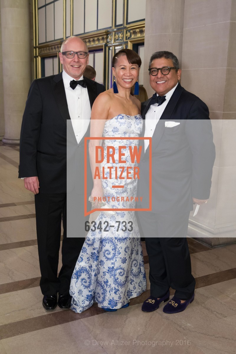 James Barnett, Mei Barnett, Riccardo Benavides, San Francisco Ballet 2016 Opening Night Gala, San Francisco City Hall. 1 Dr Carlton B Goodlett Pl, January 21st, 2016,Drew Altizer, Drew Altizer Photography, full-service agency, private events, San Francisco photographer, photographer california
