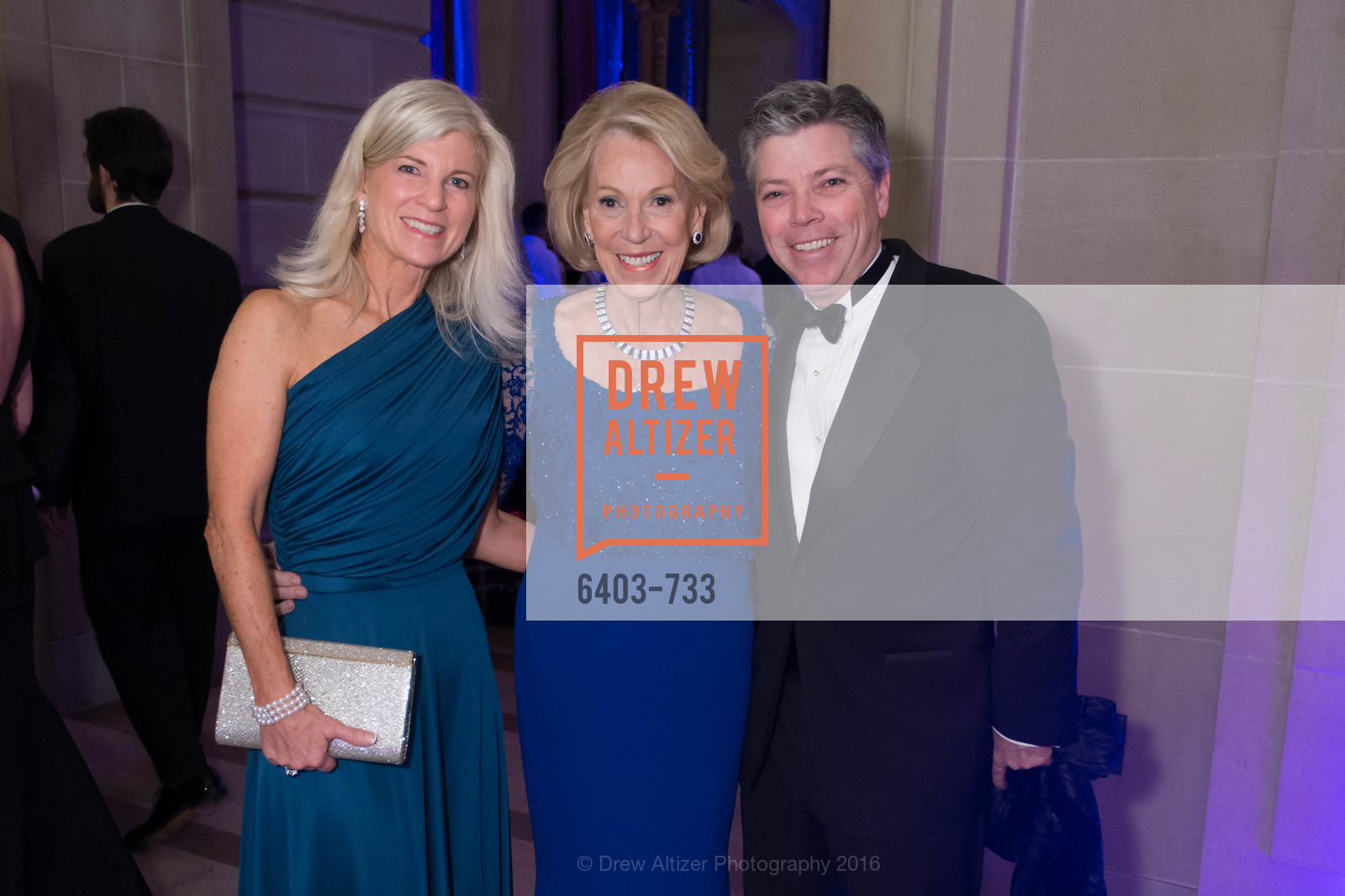Lynn Callander, Charlotte Schultz, Peter Callander, San Francisco Ballet 2016 Opening Night Gala, San Francisco City Hall. 1 Dr Carlton B Goodlett Pl, January 21st, 2016,Drew Altizer, Drew Altizer Photography, full-service event agency, private events, San Francisco photographer, photographer California
