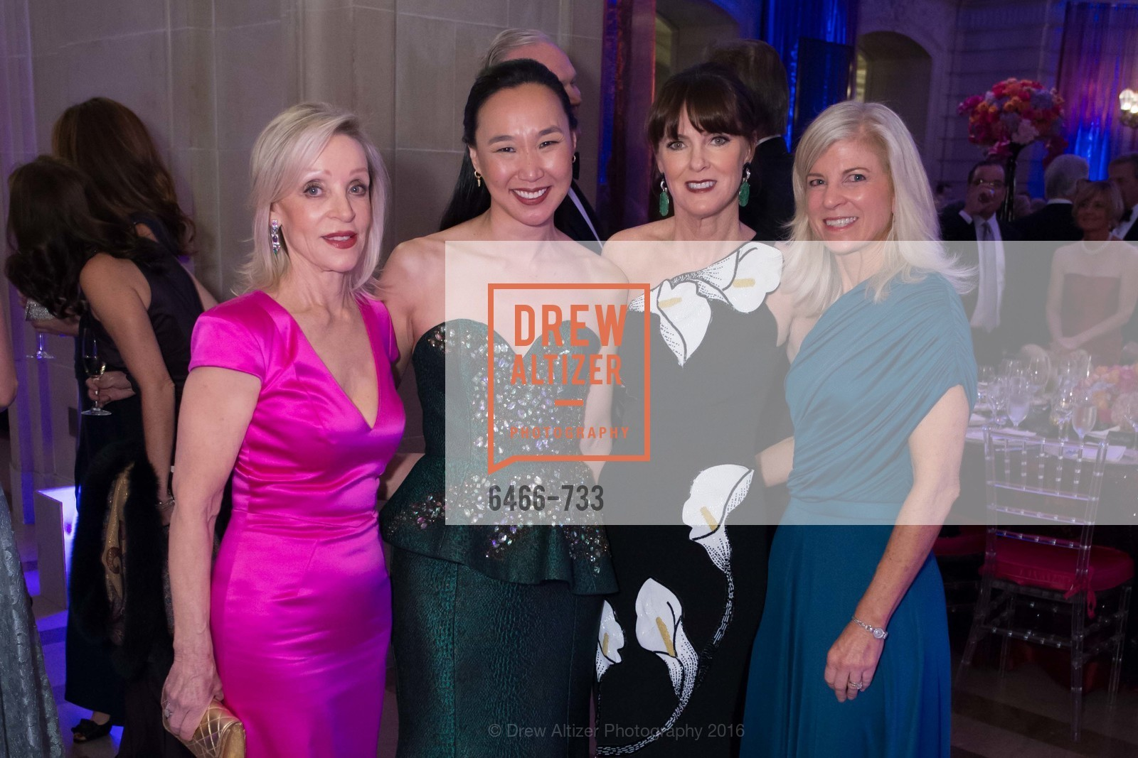 Barbara Brown, Carolyn Chang, Allison Speer, Lynn Callander, San Francisco Ballet 2016 Opening Night Gala, San Francisco City Hall. 1 Dr Carlton B Goodlett Pl, January 21st, 2016,Drew Altizer, Drew Altizer Photography, full-service agency, private events, San Francisco photographer, photographer california