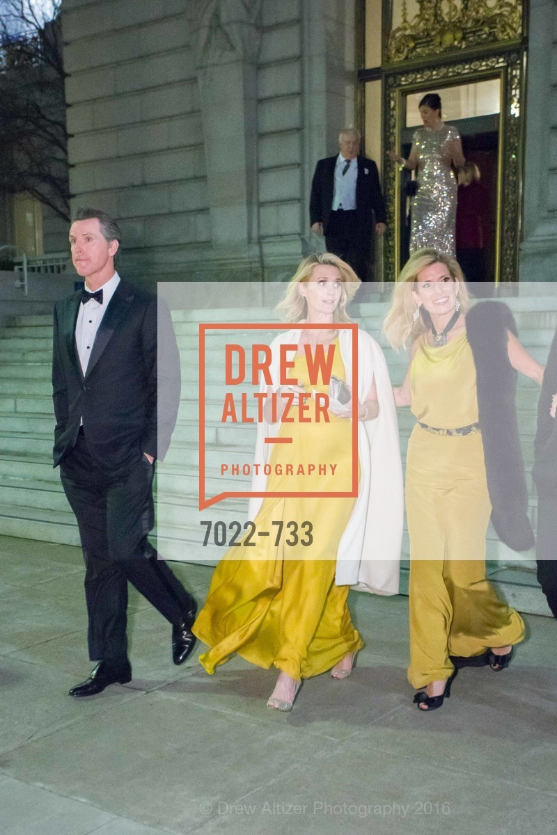 Gavin Newsom, Jennifer Seibel Newsom, Kimberly Bakker, San Francisco Ballet 2016 Opening Night Gala, San Francisco City Hall. 1 Dr Carlton B Goodlett Pl, January 21st, 2016,Drew Altizer, Drew Altizer Photography, full-service agency, private events, San Francisco photographer, photographer california