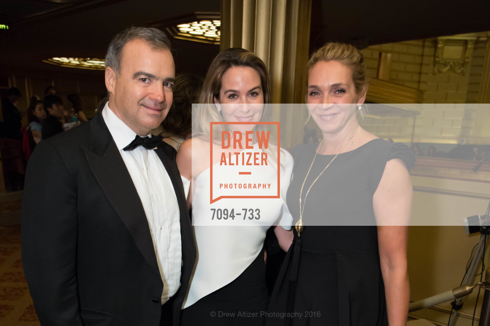 JP Conte, Hillary Ames, Victoire Reynal Brown, San Francisco Ballet 2016 Opening Night Gala, San Francisco City Hall. 1 Dr Carlton B Goodlett Pl, January 21st, 2016,Drew Altizer, Drew Altizer Photography, full-service event agency, private events, San Francisco photographer, photographer California