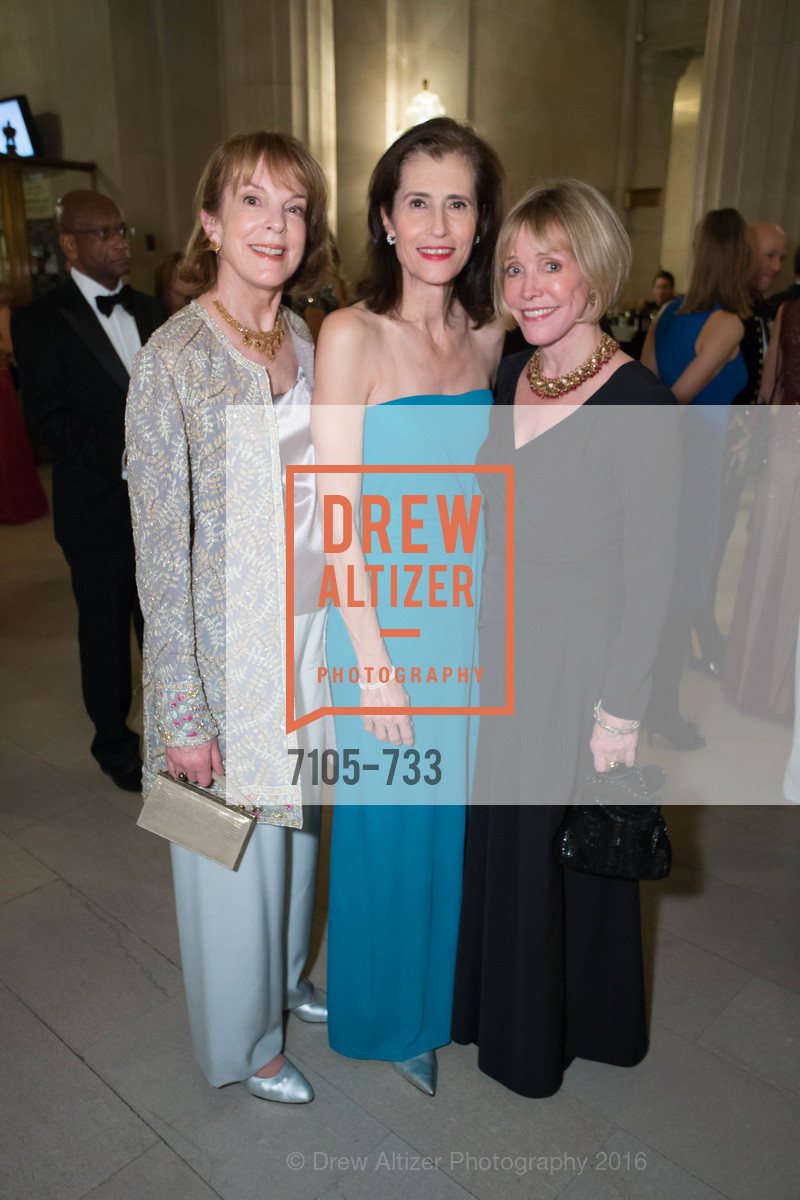 Eve Wirch, Rada Brooks, Meryl Randall Sherwood, San Francisco Ballet 2016 Opening Night Gala, San Francisco City Hall. 1 Dr Carlton B Goodlett Pl, January 21st, 2016,Drew Altizer, Drew Altizer Photography, full-service agency, private events, San Francisco photographer, photographer california