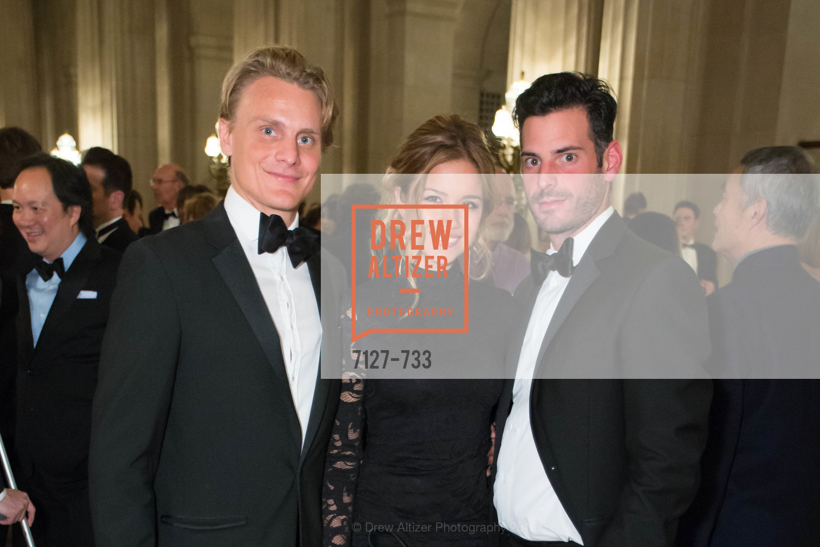 Leo Von Prellwitz, Jaimie Pepping, Brian Ehrlich, San Francisco Ballet 2016 Opening Night Gala, San Francisco City Hall. 1 Dr Carlton B Goodlett Pl, January 21st, 2016,Drew Altizer, Drew Altizer Photography, full-service agency, private events, San Francisco photographer, photographer california
