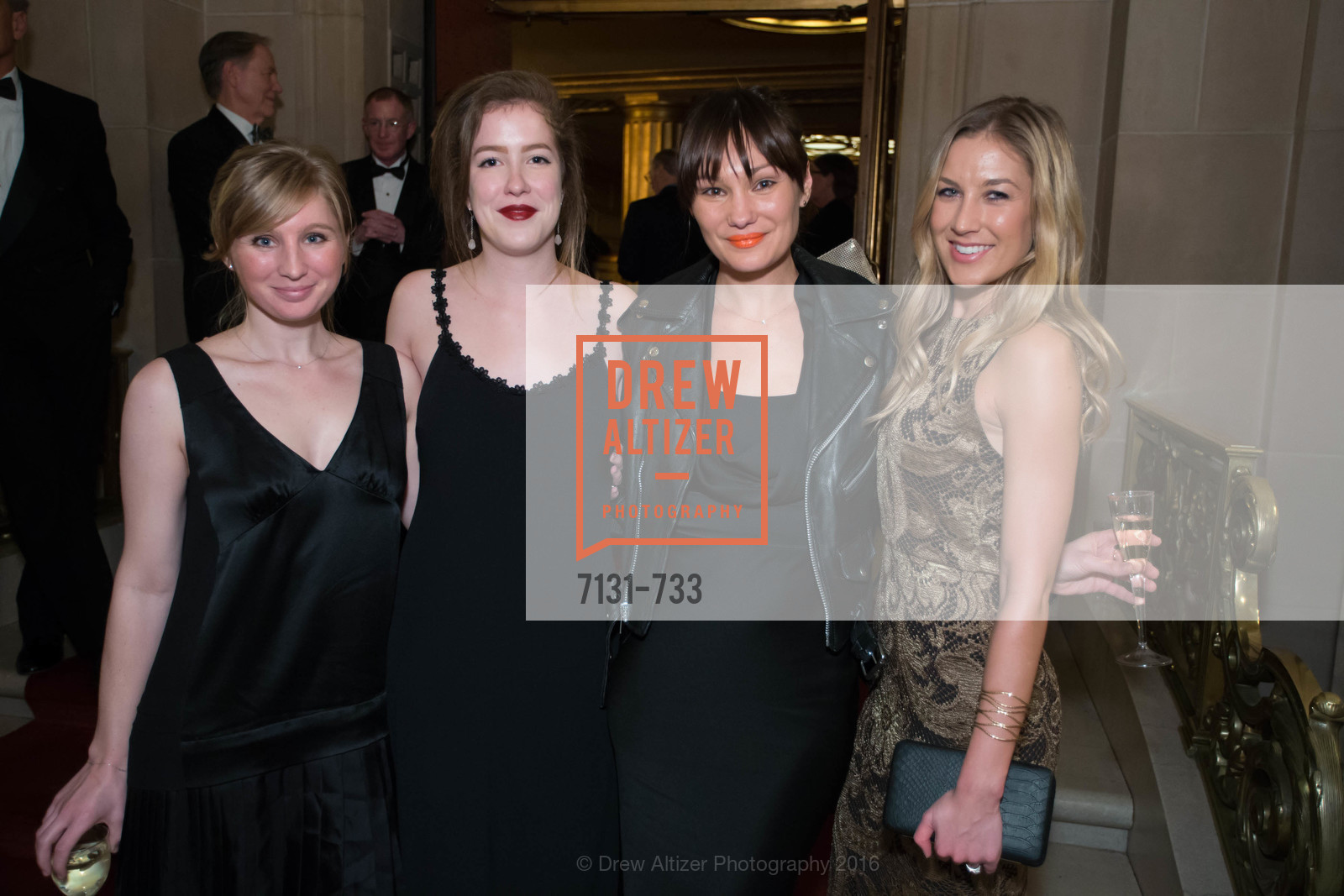 Jennifer Sutton, Stephanie WIllamson, Elizabeth Thompkins, Emiy Slade, San Francisco Ballet 2016 Opening Night Gala, San Francisco City Hall. 1 Dr Carlton B Goodlett Pl, January 21st, 2016,Drew Altizer, Drew Altizer Photography, full-service event agency, private events, San Francisco photographer, photographer California