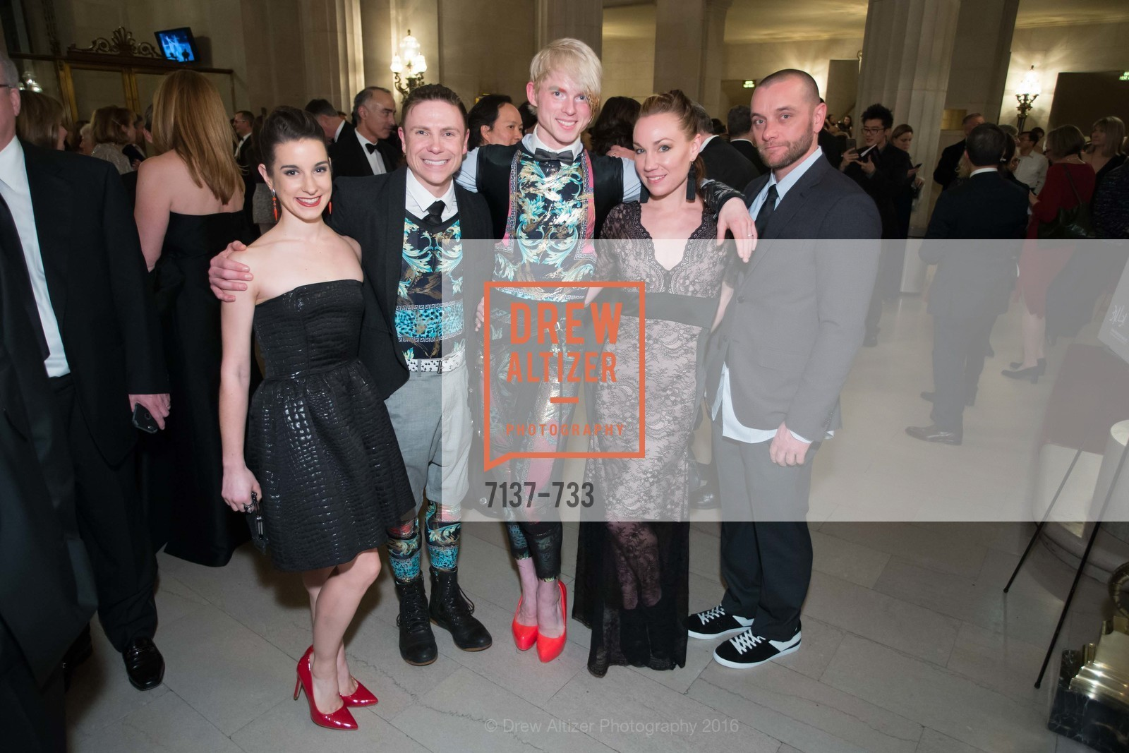 Julia Rowe, Robert Dekkers, Christian Squires, Jamie Lynn Duggan, Randy Walsh, San Francisco Ballet 2016 Opening Night Gala, San Francisco City Hall. 1 Dr Carlton B Goodlett Pl, January 21st, 2016,Drew Altizer, Drew Altizer Photography, full-service agency, private events, San Francisco photographer, photographer california