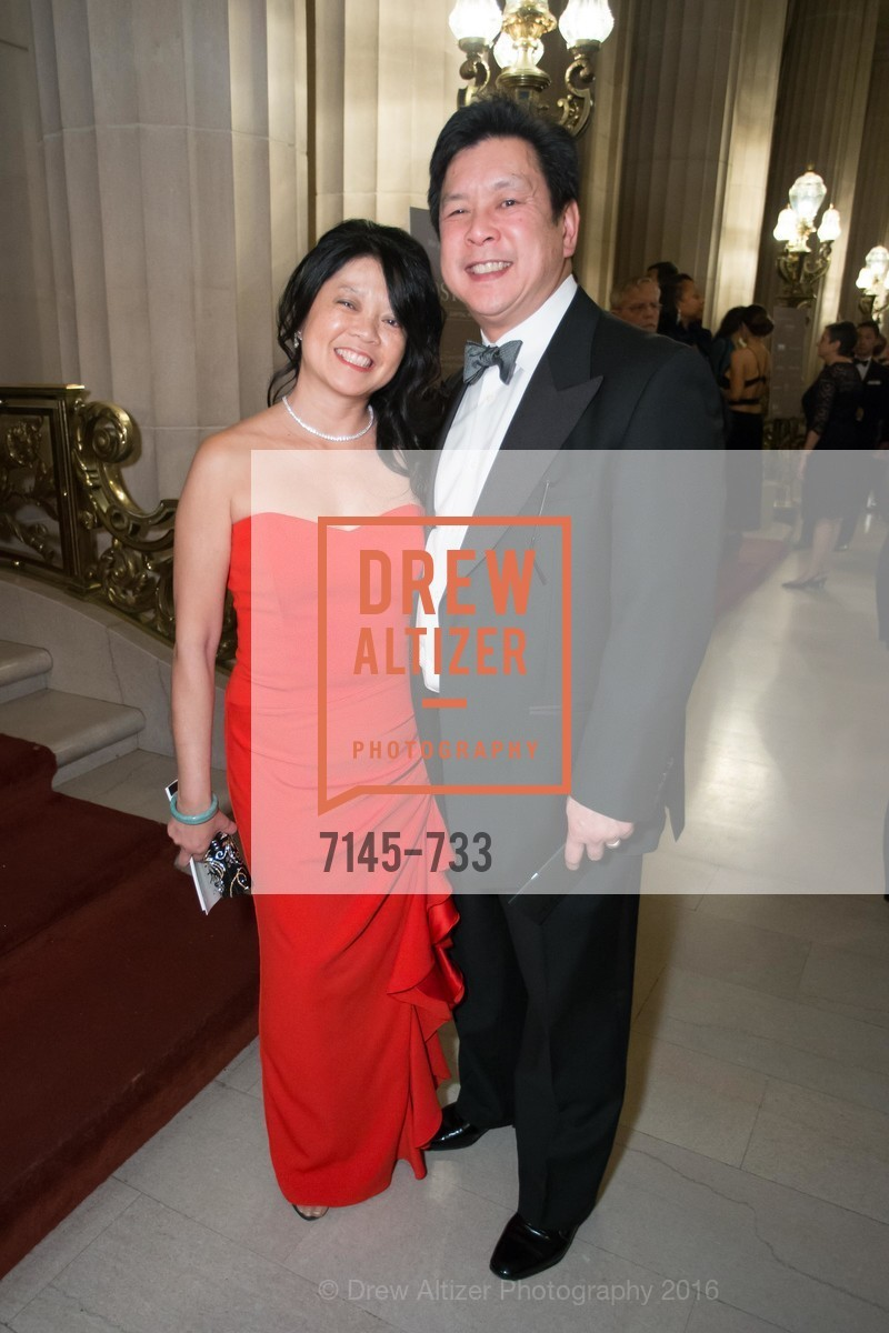 Yvonne Chang, Ronald Chang, San Francisco Ballet 2016 Opening Night Gala, San Francisco City Hall. 1 Dr Carlton B Goodlett Pl, January 21st, 2016,Drew Altizer, Drew Altizer Photography, full-service agency, private events, San Francisco photographer, photographer california