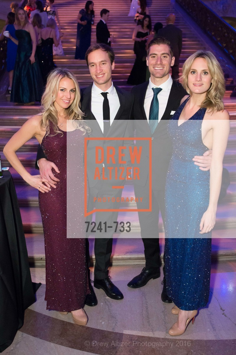 Claire Scolatti, Mike Anderson, Ryan Mahoney, Danielle Spidell, San Francisco Ballet 2016 Opening Night Gala, San Francisco City Hall. 1 Dr Carlton B Goodlett Pl, January 21st, 2016,Drew Altizer, Drew Altizer Photography, full-service agency, private events, San Francisco photographer, photographer california