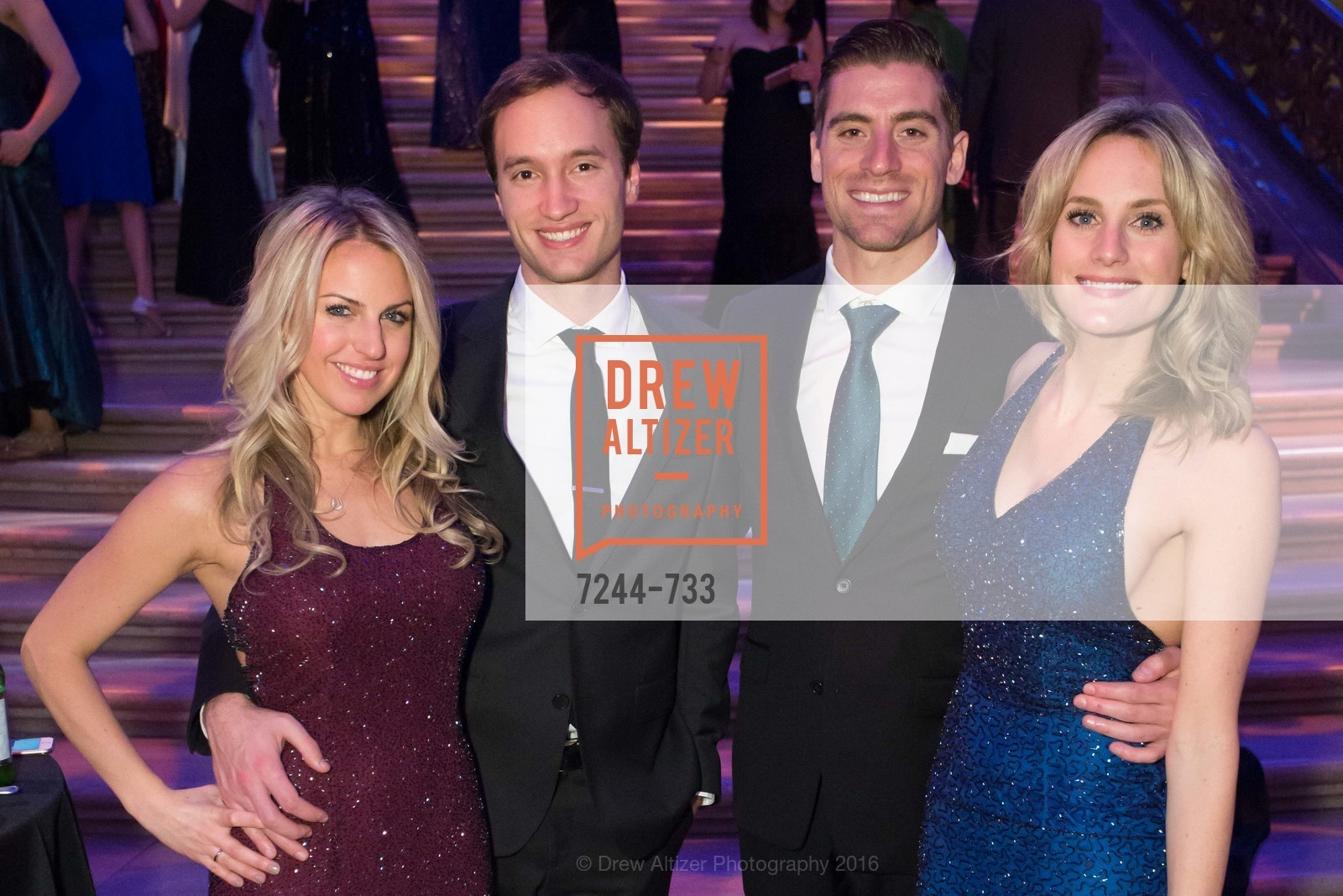 Claire Scolatti, Mike Anderson, Ryan Mahoney, Danielle Spidell, San Francisco Ballet 2016 Opening Night Gala, San Francisco City Hall. 1 Dr Carlton B Goodlett Pl, January 21st, 2016,Drew Altizer, Drew Altizer Photography, full-service event agency, private events, San Francisco photographer, photographer California