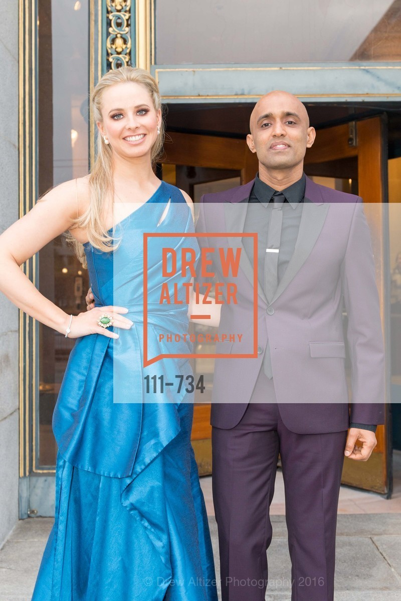 Elizabeth Sgarrella, Sunil Sharma, San Francisco Ballet 2016 ENCORE! Opening Night Gala, San Francisco City Hall. 1 Dr Carlton B Goodlett Pl, January 21st, 2016,Drew Altizer, Drew Altizer Photography, full-service agency, private events, San Francisco photographer, photographer california