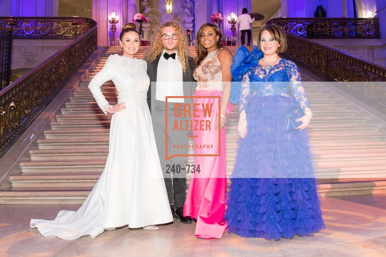 Judy Davies, Vasily Vein, Vanessa Jean-Baptiste, Rada Katz, San Francisco Ballet 2016 ENCORE! Opening Night Gala, San Francisco City Hall. 1 Dr Carlton B Goodlett Pl, January 21st, 2016,Drew Altizer, Drew Altizer Photography, full-service agency, private events, San Francisco photographer, photographer california