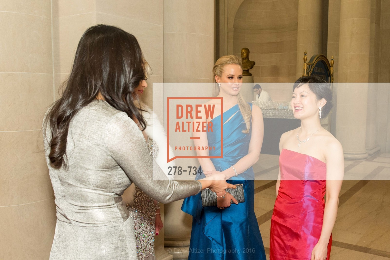 Lena Gikkas, Elizabeth Sgarrella, Susan Lin, San Francisco Ballet 2016 ENCORE! Opening Night Gala, San Francisco City Hall. 1 Dr Carlton B Goodlett Pl, January 21st, 2016,Drew Altizer, Drew Altizer Photography, full-service agency, private events, San Francisco photographer, photographer california