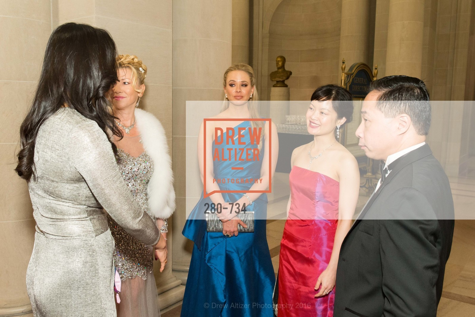 Lena Gikkas, Elizabeth Sgarrella, Susan Lin, Wilson Yan, San Francisco Ballet 2016 ENCORE! Opening Night Gala, San Francisco City Hall. 1 Dr Carlton B Goodlett Pl, January 21st, 2016,Drew Altizer, Drew Altizer Photography, full-service event agency, private events, San Francisco photographer, photographer California