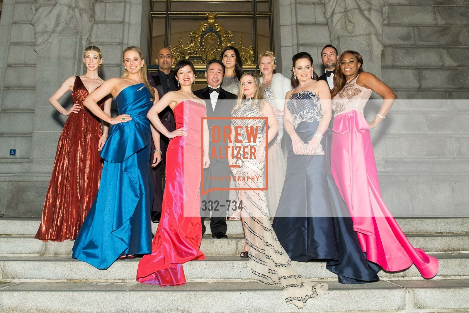 Maggie Winterfeldt Clark, Elizabeth Sgarrella, Sunil Sharma, Susan Lin, Wilson Yan, Emily Hu, Julie Hall, Lena Gikkas, Jane Burkhard, Christopher Correa, Vanessa Jean-Baptiste, San Francisco Ballet 2016 ENCORE! Opening Night Gala, San Francisco City Hall. 1 Dr Carlton B Goodlett Pl, January 21st, 2016,Drew Altizer, Drew Altizer Photography, full-service agency, private events, San Francisco photographer, photographer california