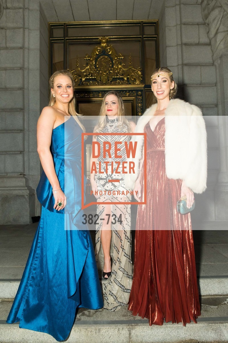 Elizabeth Sgarrella, Julie Hall, Maggie Winterfeldt Clark, San Francisco Ballet 2016 ENCORE! Opening Night Gala, San Francisco City Hall. 1 Dr Carlton B Goodlett Pl, January 21st, 2016,Drew Altizer, Drew Altizer Photography, full-service agency, private events, San Francisco photographer, photographer california