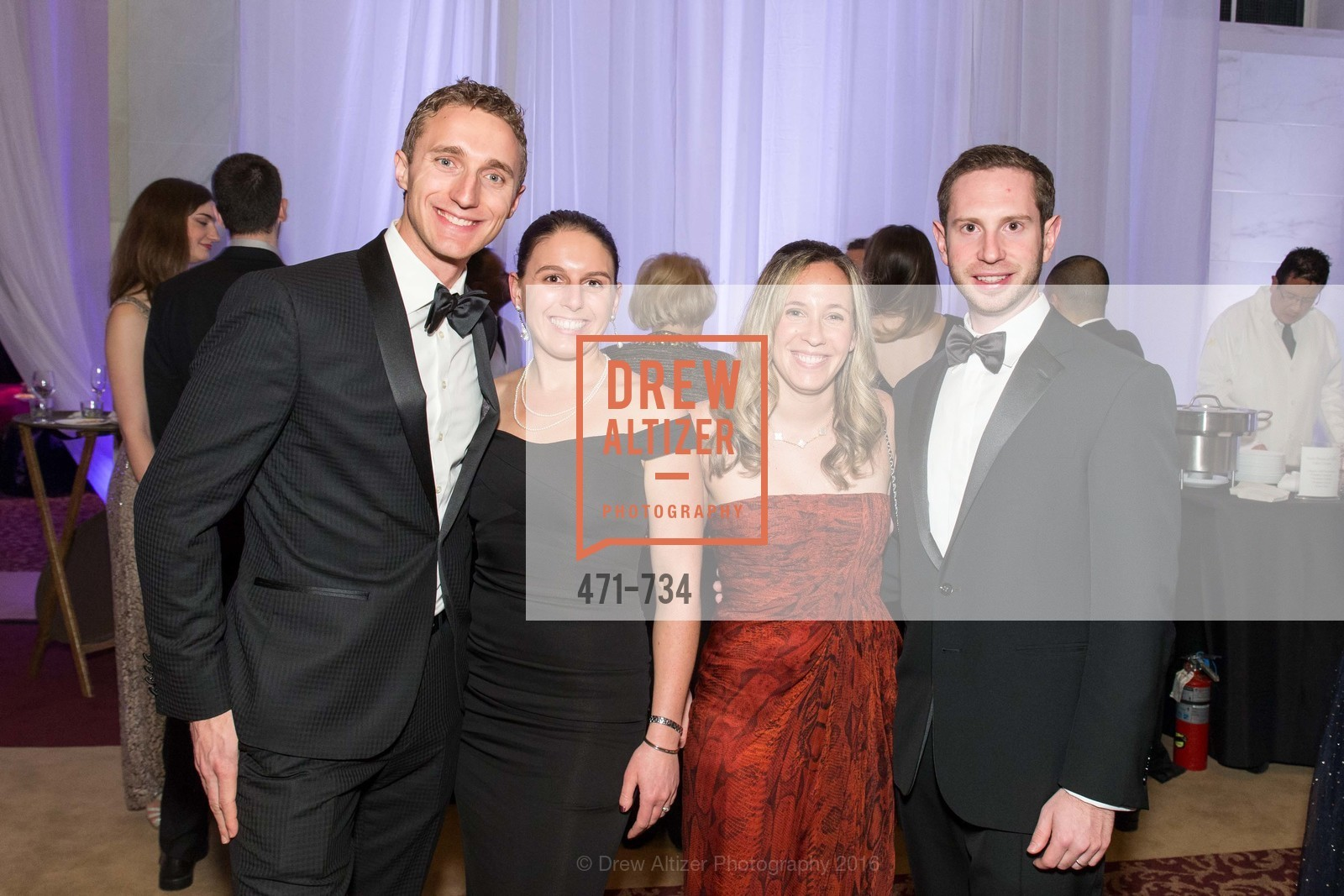 Travis Breznak, Nicole Breznak, Nitzan Miller, Josh Miller, San Francisco Ballet 2016 ENCORE! Opening Night Gala, San Francisco City Hall. 1 Dr Carlton B Goodlett Pl, January 21st, 2016,Drew Altizer, Drew Altizer Photography, full-service agency, private events, San Francisco photographer, photographer california