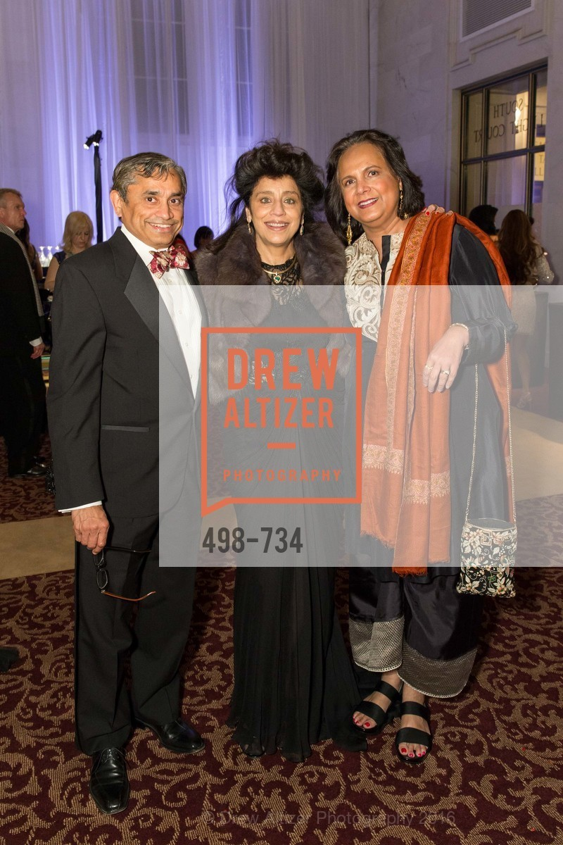 Shirish Malekar, Vinati Mishra, Radhika Aggarwal, San Francisco Ballet 2016 ENCORE! Opening Night Gala, San Francisco City Hall. 1 Dr Carlton B Goodlett Pl, January 21st, 2016,Drew Altizer, Drew Altizer Photography, full-service agency, private events, San Francisco photographer, photographer california