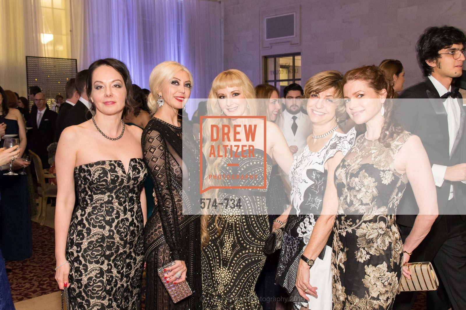 Gergana Gallacher, Simone Derayeh, Shannyn Bessoni, Ludmila Eggleton, Christina Eriksson, San Francisco Ballet 2016 ENCORE! Opening Night Gala, San Francisco City Hall. 1 Dr Carlton B Goodlett Pl, January 21st, 2016,Drew Altizer, Drew Altizer Photography, full-service agency, private events, San Francisco photographer, photographer california