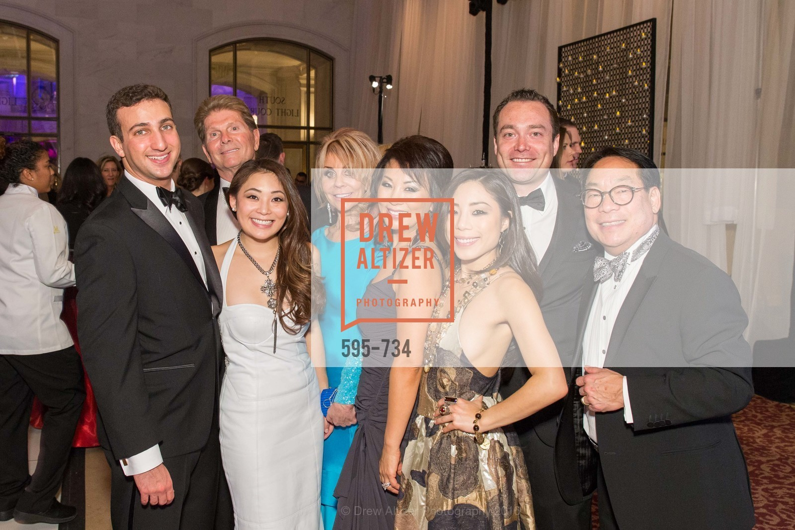 Husayn Hasan, Kelsey Lee, Tony Tonso, Barbara Tonso, Jennifer Lee, Jeff Conkey, Kristin Lee, Edward Lee, San Francisco Ballet 2016 ENCORE! Opening Night Gala, San Francisco City Hall. 1 Dr Carlton B Goodlett Pl, January 21st, 2016,Drew Altizer, Drew Altizer Photography, full-service agency, private events, San Francisco photographer, photographer california
