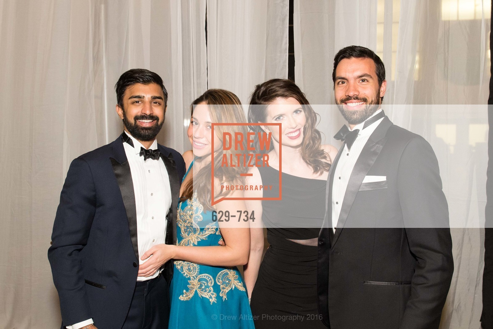 Rishi Dixit, Elizabeth Chabot, Kelly Williams, Olivier Courtemanche, San Francisco Ballet 2016 ENCORE! Opening Night Gala, San Francisco City Hall. 1 Dr Carlton B Goodlett Pl, January 21st, 2016,Drew Altizer, Drew Altizer Photography, full-service agency, private events, San Francisco photographer, photographer california