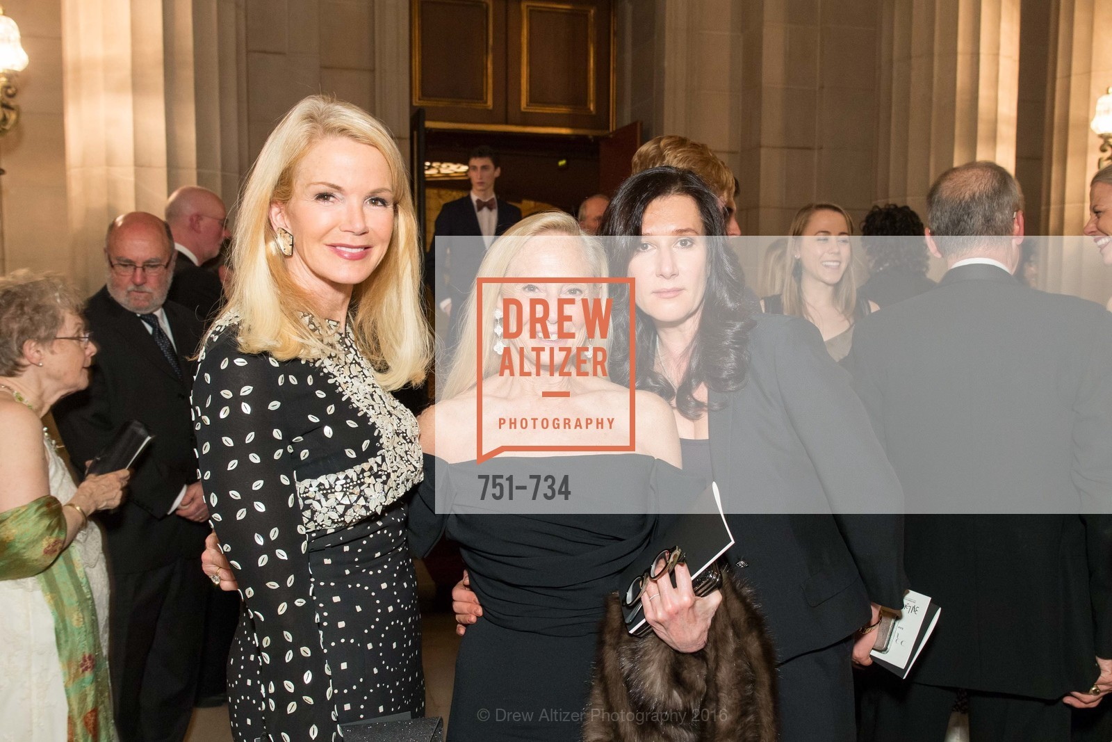 Blaine Trump, Karen Lefrak, Clarissa Saveliev, San Francisco Ballet 2016 ENCORE! Opening Night Gala, San Francisco City Hall. 1 Dr Carlton B Goodlett Pl, January 21st, 2016,Drew Altizer, Drew Altizer Photography, full-service agency, private events, San Francisco photographer, photographer california