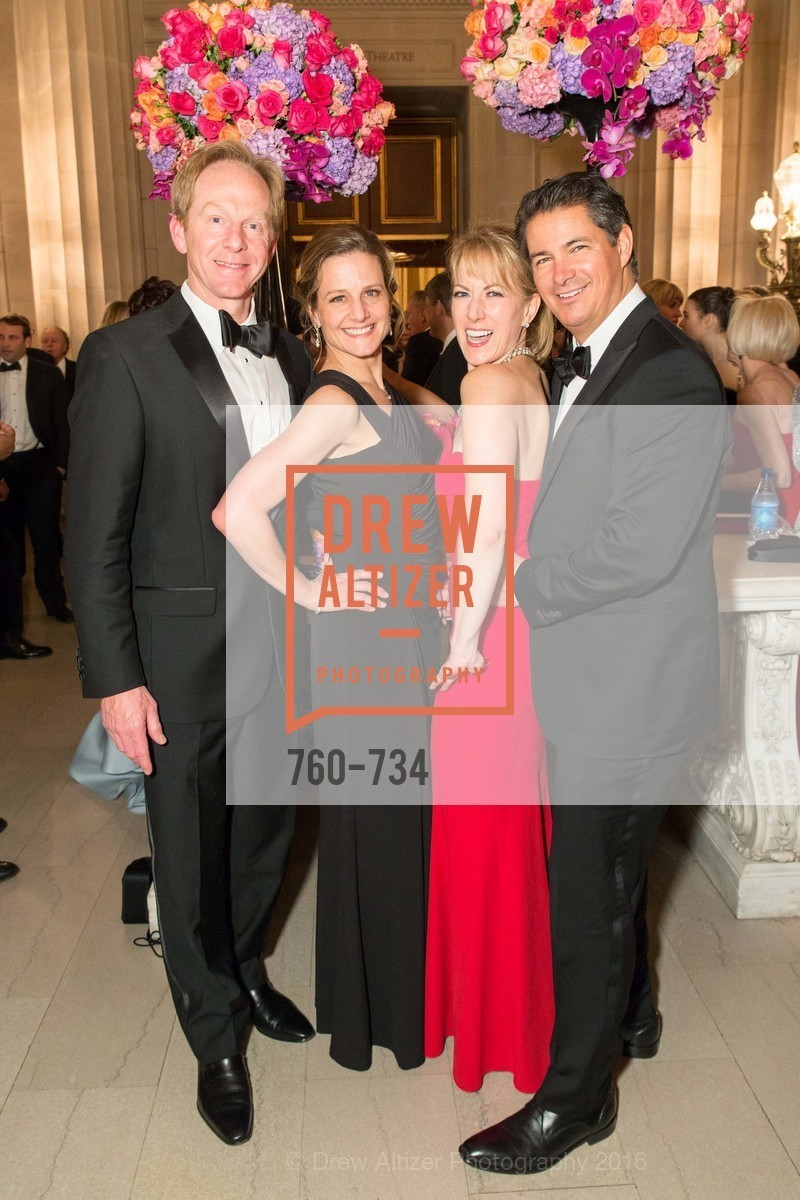 Gary Gooch, Karen Gooch, Susan Porter, Dan Nunes, San Francisco Ballet 2016 ENCORE! Opening Night Gala, San Francisco City Hall. 1 Dr Carlton B Goodlett Pl, January 21st, 2016,Drew Altizer, Drew Altizer Photography, full-service agency, private events, San Francisco photographer, photographer california