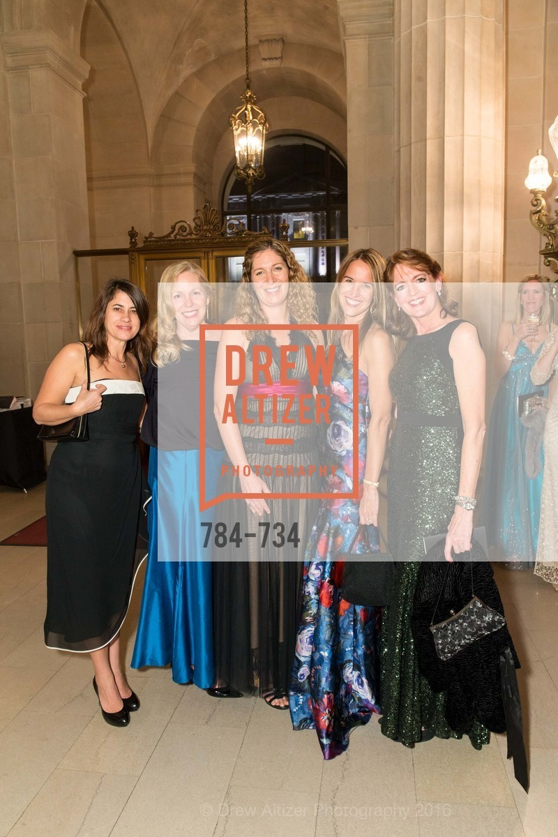 Lori McKelly, Mary Taylor, Liz Tahawi, Stephanie Tomayo, Ruth Ann Seward, San Francisco Ballet 2016 ENCORE! Opening Night Gala, San Francisco City Hall. 1 Dr Carlton B Goodlett Pl, January 21st, 2016,Drew Altizer, Drew Altizer Photography, full-service agency, private events, San Francisco photographer, photographer california