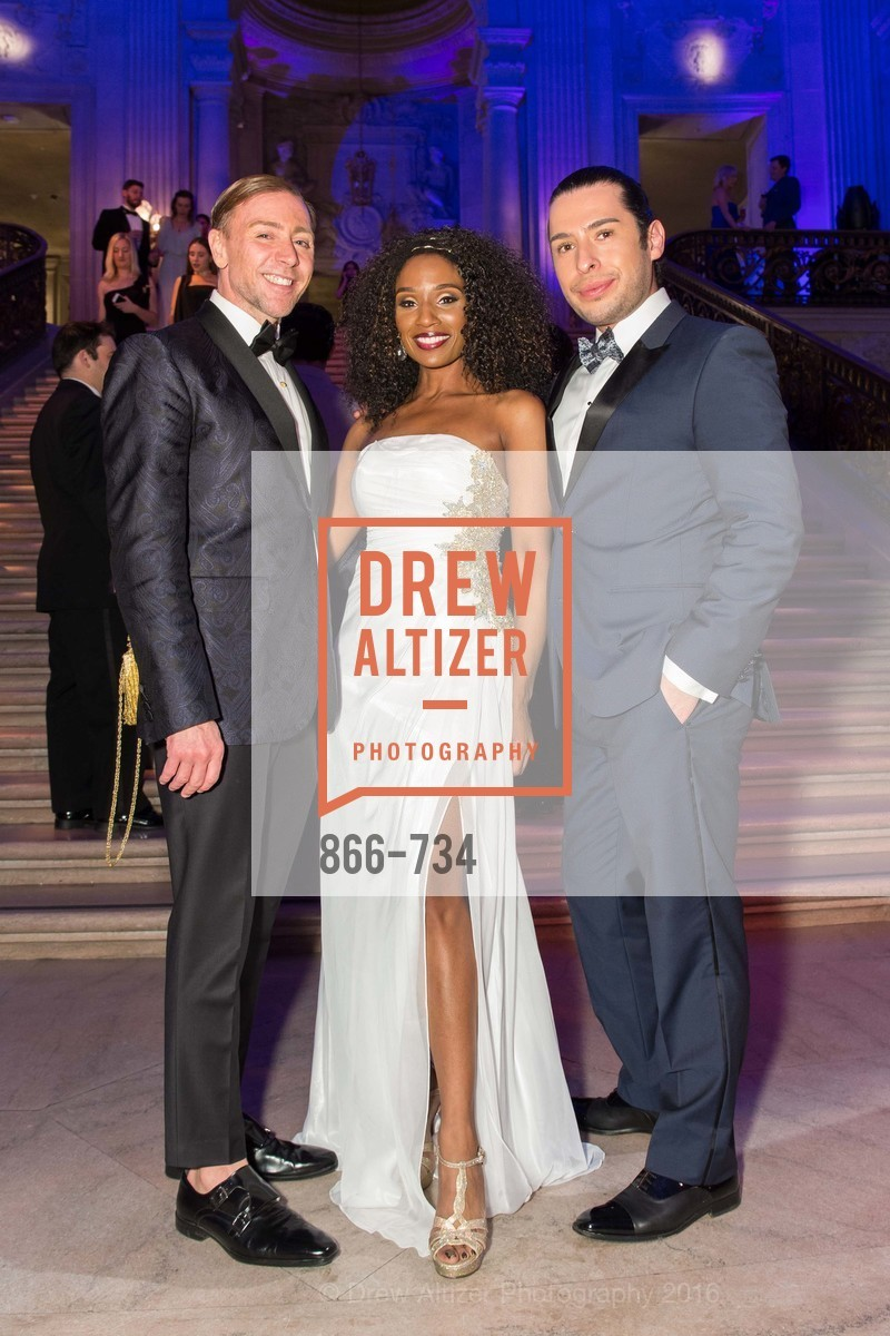 Mark Rhoades, Pernella Sommerville, Hector Vargas, San Francisco Ballet 2016 ENCORE! Opening Night Gala, San Francisco City Hall. 1 Dr Carlton B Goodlett Pl, January 21st, 2016,Drew Altizer, Drew Altizer Photography, full-service agency, private events, San Francisco photographer, photographer california