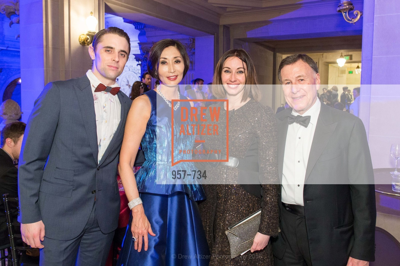 Luke Ingham, Yurie Pascarella, Danielle Rowe, Carl Pascarella, San Francisco Ballet 2016 ENCORE! Opening Night Gala, San Francisco City Hall. 1 Dr Carlton B Goodlett Pl, January 21st, 2016,Drew Altizer, Drew Altizer Photography, full-service agency, private events, San Francisco photographer, photographer california