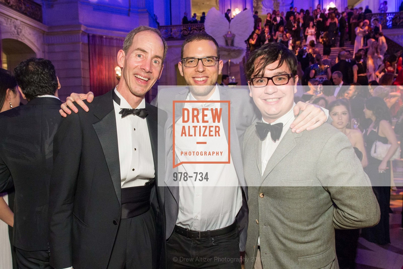 Tom Larsen, Ronny Michael Greenberg, Christopher Wiseman, San Francisco Ballet 2016 ENCORE! Opening Night Gala, San Francisco City Hall. 1 Dr Carlton B Goodlett Pl, January 21st, 2016,Drew Altizer, Drew Altizer Photography, full-service agency, private events, San Francisco photographer, photographer california