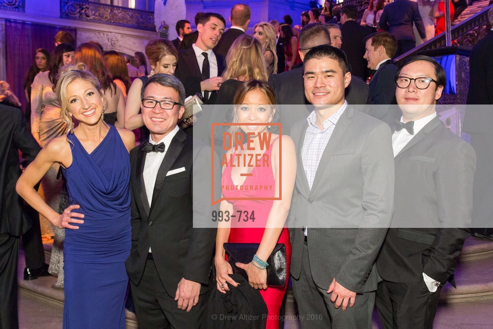 Caroline Jordan, Dave Clark, Thu Zar, Jason Lin, Mike Lu, San Francisco Ballet 2016 ENCORE! Opening Night Gala, San Francisco City Hall. 1 Dr Carlton B Goodlett Pl, January 21st, 2016,Drew Altizer, Drew Altizer Photography, full-service agency, private events, San Francisco photographer, photographer california
