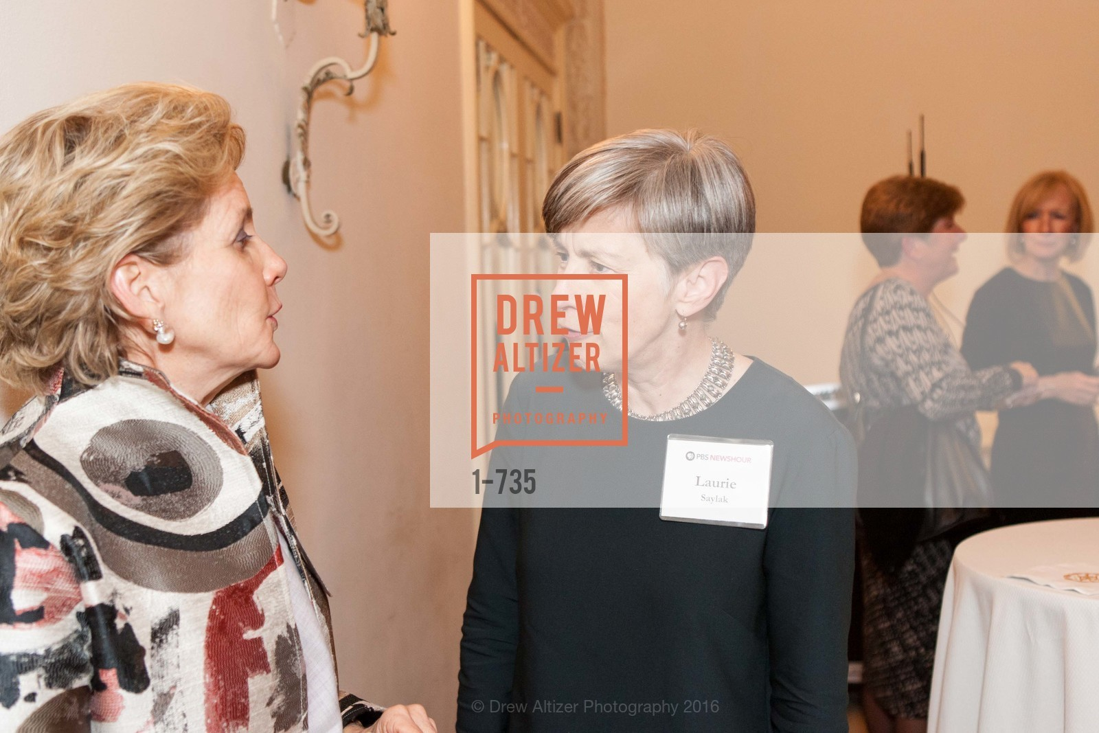 Joanne Nitzberg, Laurie Saylak, A Night with the NewsHour, Metropolitan Club. 640 Sutter Street, January 21st, 2016,Drew Altizer, Drew Altizer Photography, full-service agency, private events, San Francisco photographer, photographer california