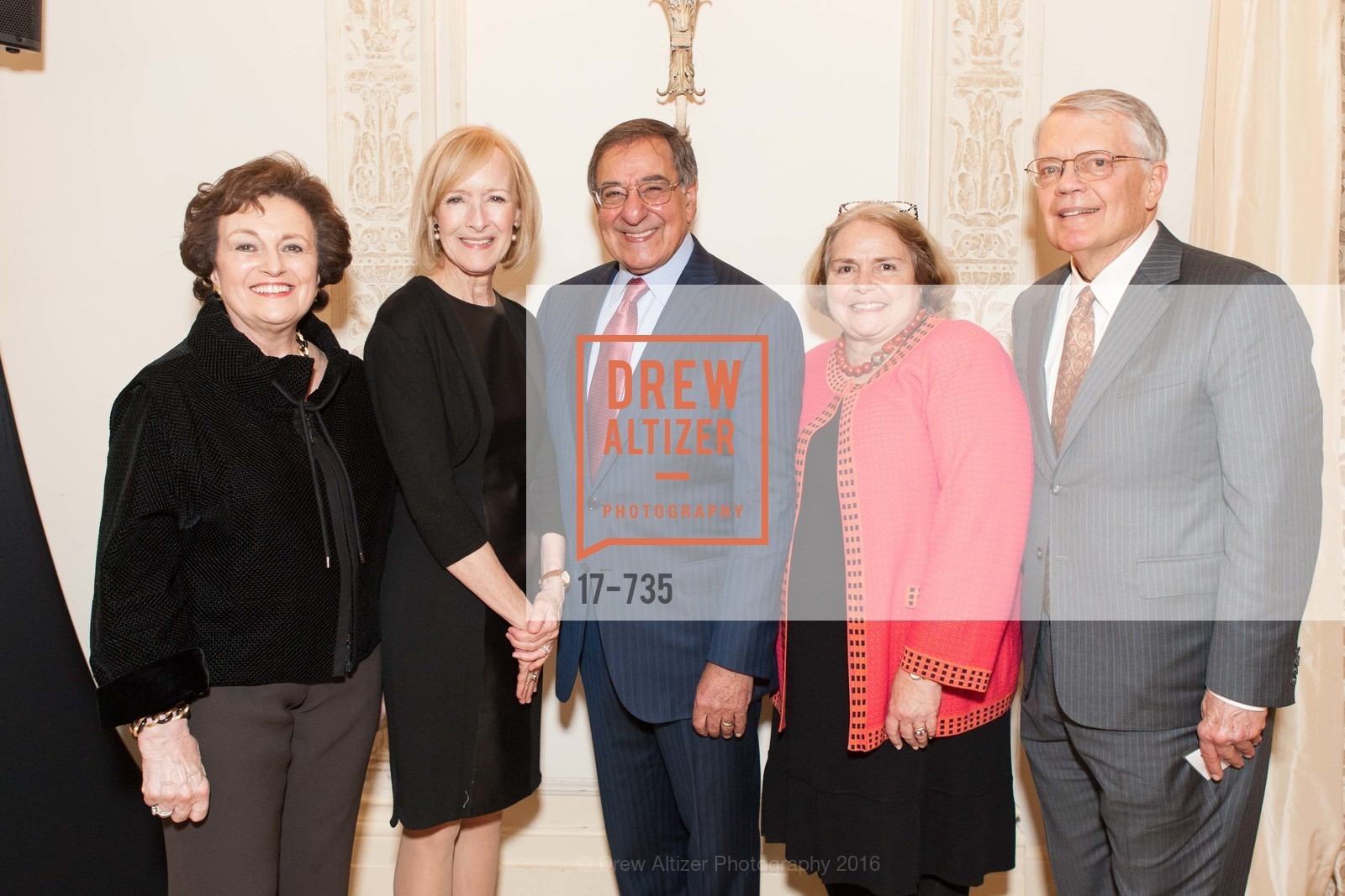Sylvia Panetta, Judy Woodruff, Leon Panetta, Camilla Smith, George Smith, A Night with the NewsHour, Metropolitan Club. 640 Sutter Street, January 21st, 2016,Drew Altizer, Drew Altizer Photography, full-service agency, private events, San Francisco photographer, photographer california